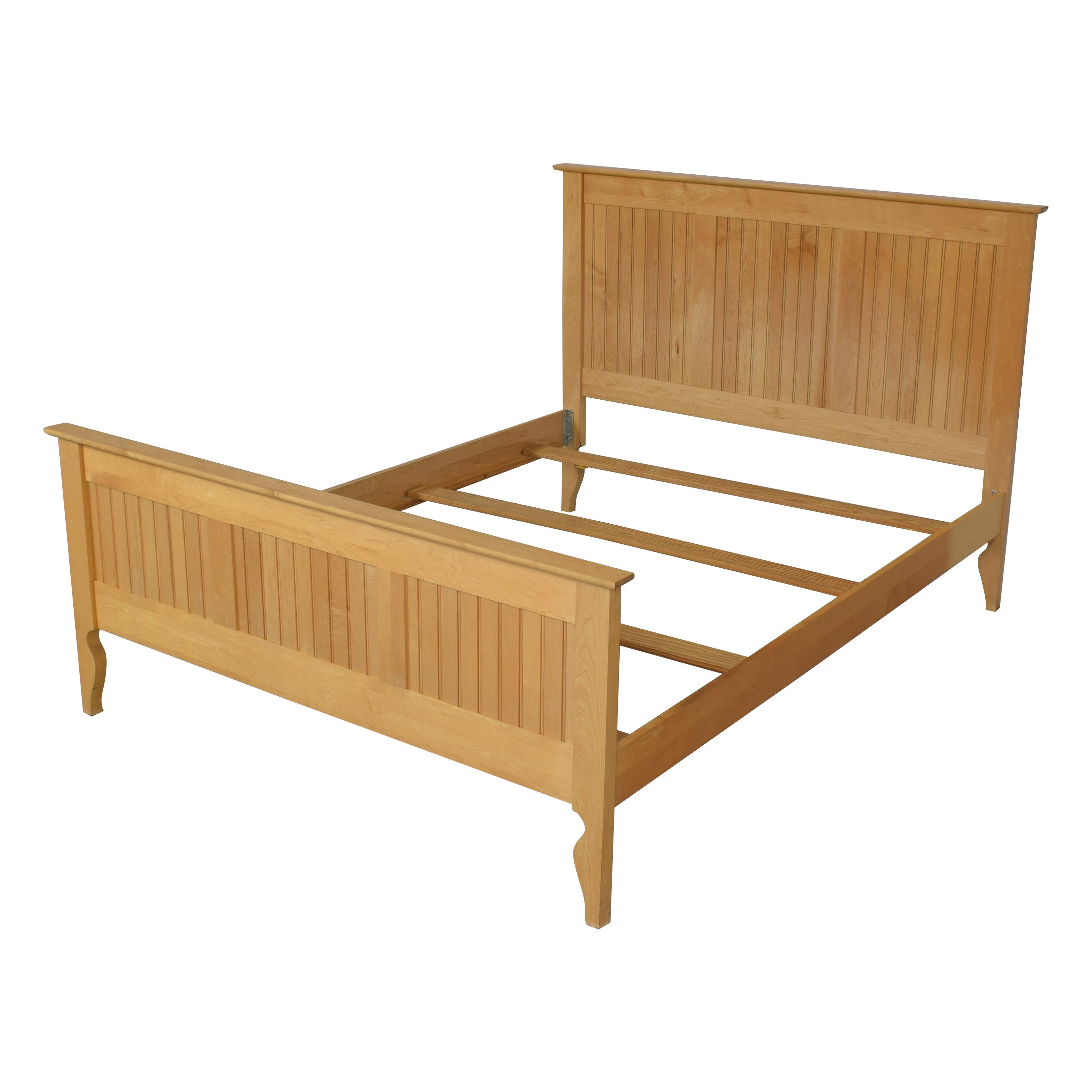 buy Crate & Barrel Crate & Barrel Wooden Queen Bed online
