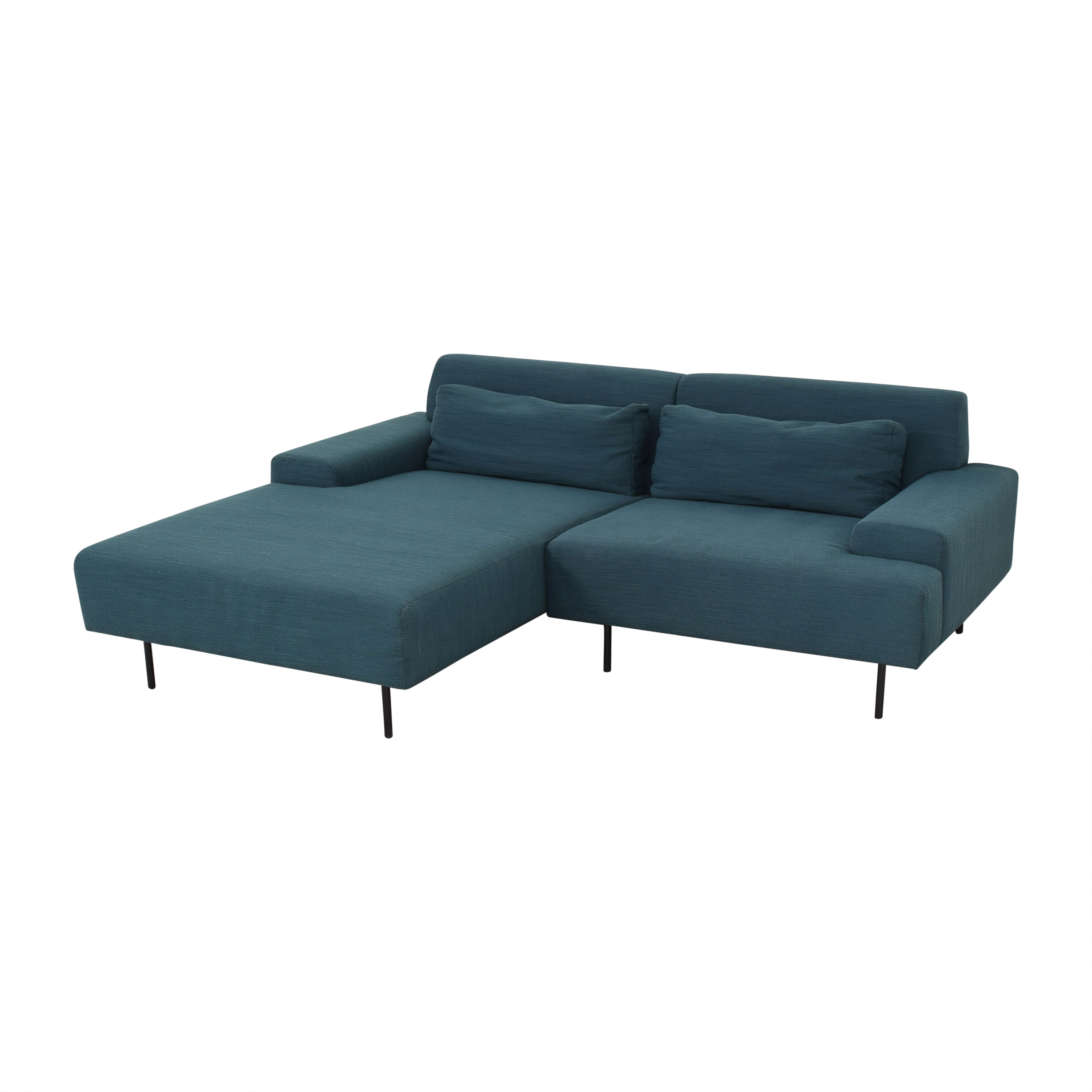 West Elm West Elm Beckham Chaise Sectional Sofa discount