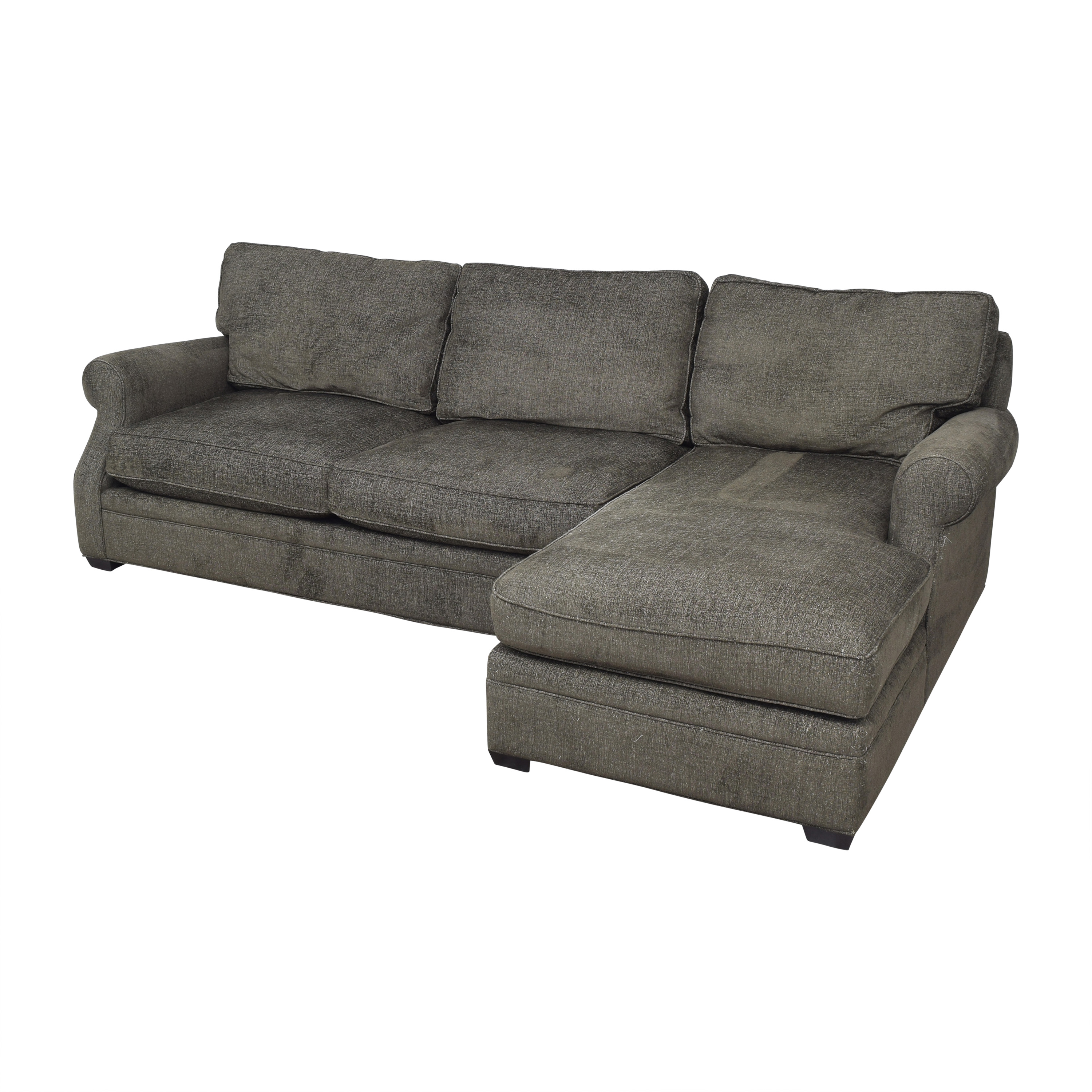 Arhaus Arhaus Landsbury Chaise Sectional Sofa and Ottoman dimensions