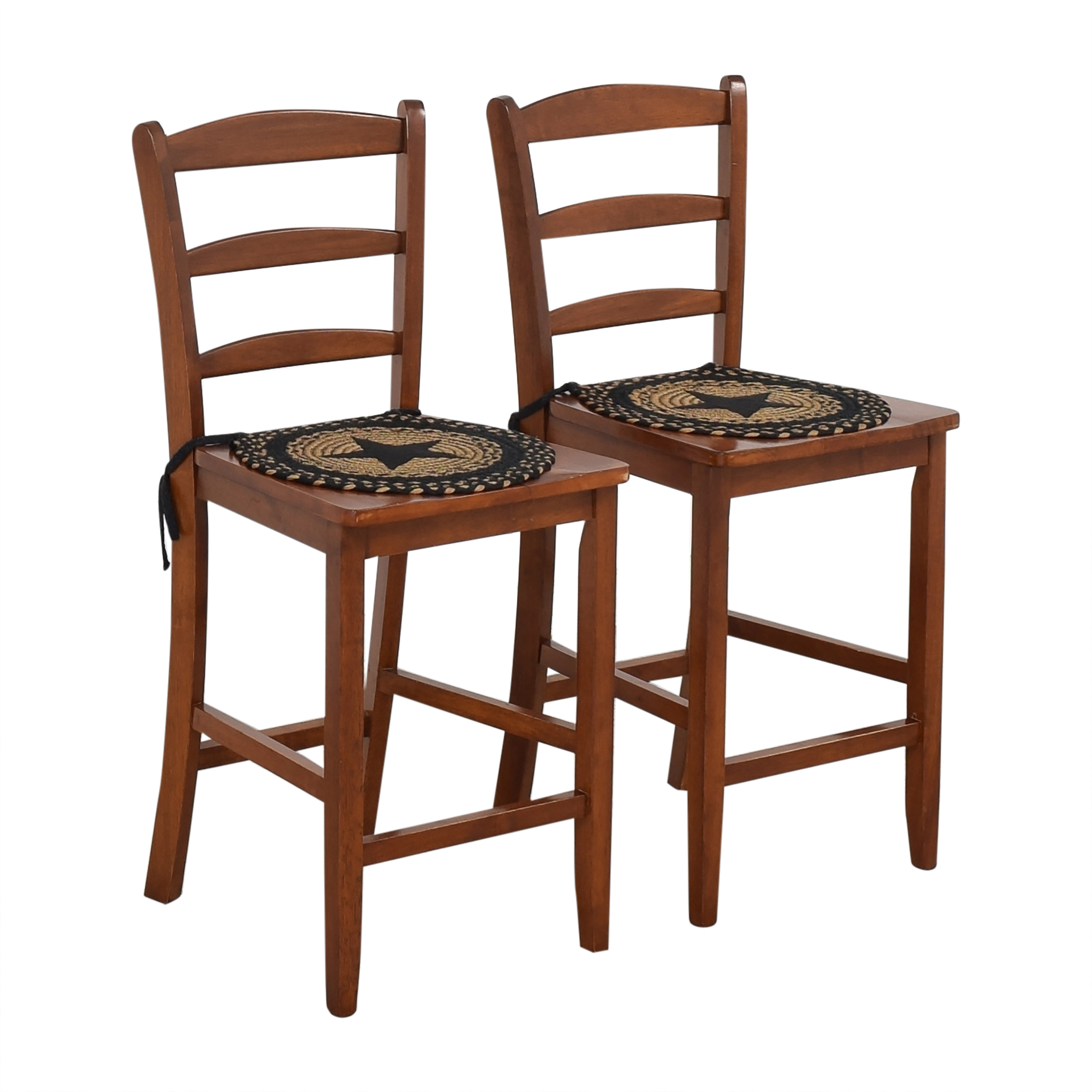 Winsome Wood Winsome Wood Albany Ladder Back Counter Stools brown