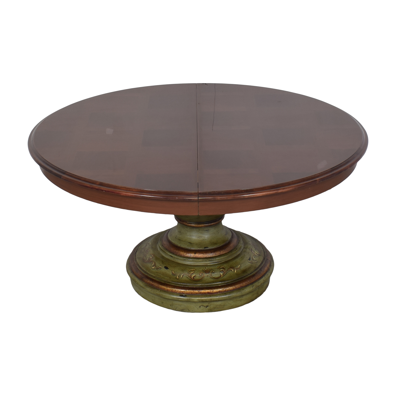 buy  Custom Pedestal Round Dining Table online