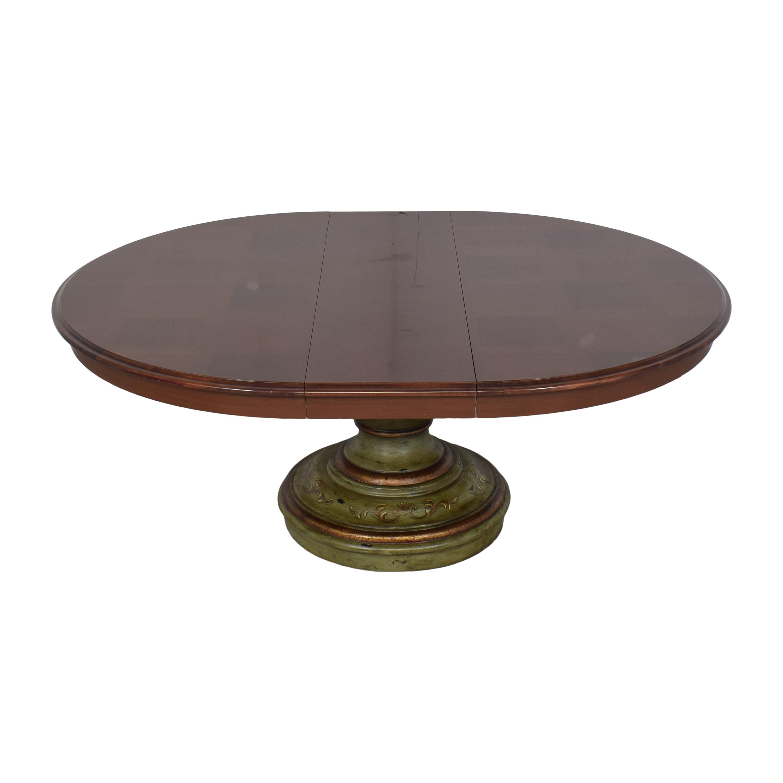 shop Custom Pedestal Round Dining Table
