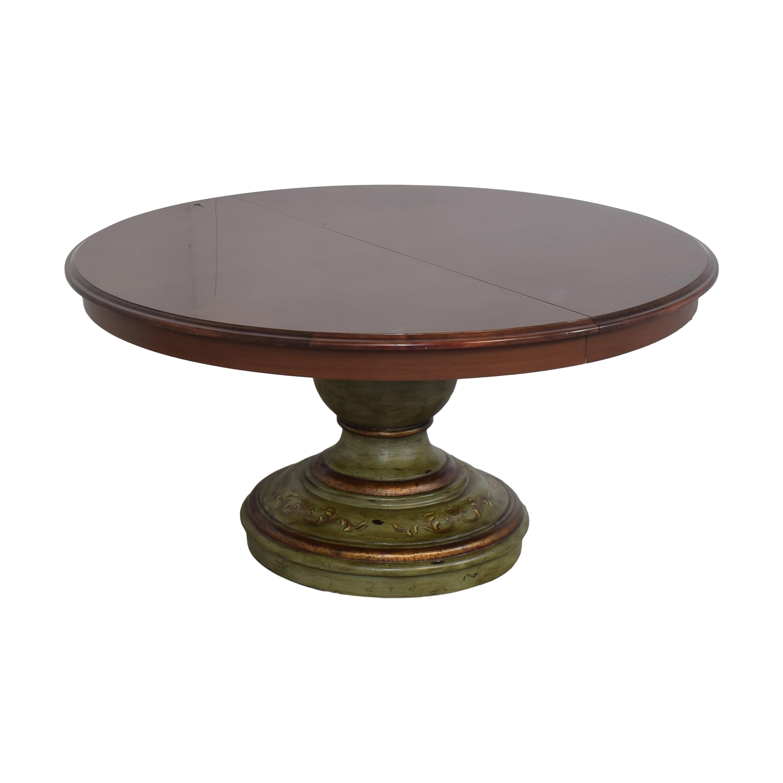 Custom Pedestal Round Dining Table nyc