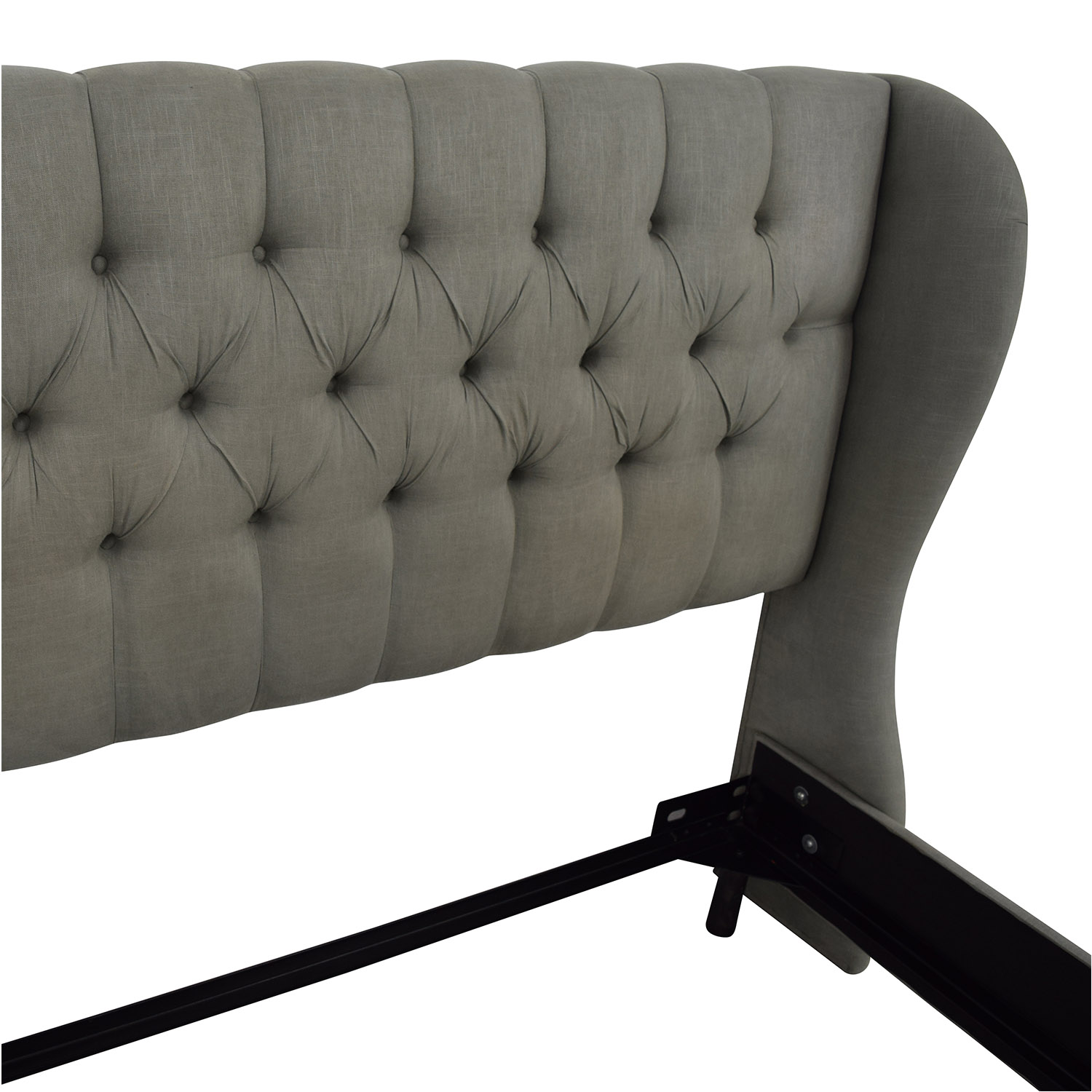 79  off all modern all modern tufted queen bed   beds