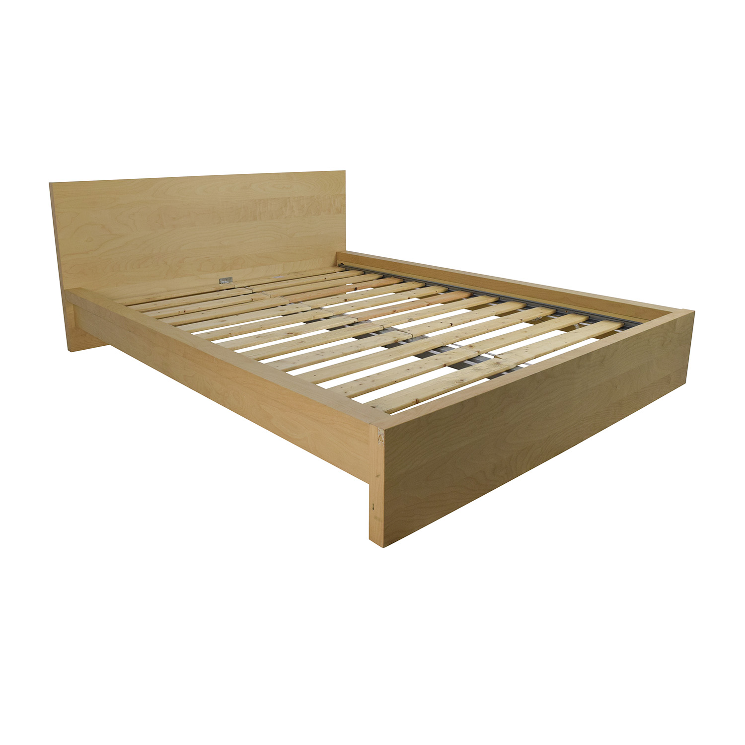 62 off ikea ikea sultan queen bed frame beds for Ikea mattress frame