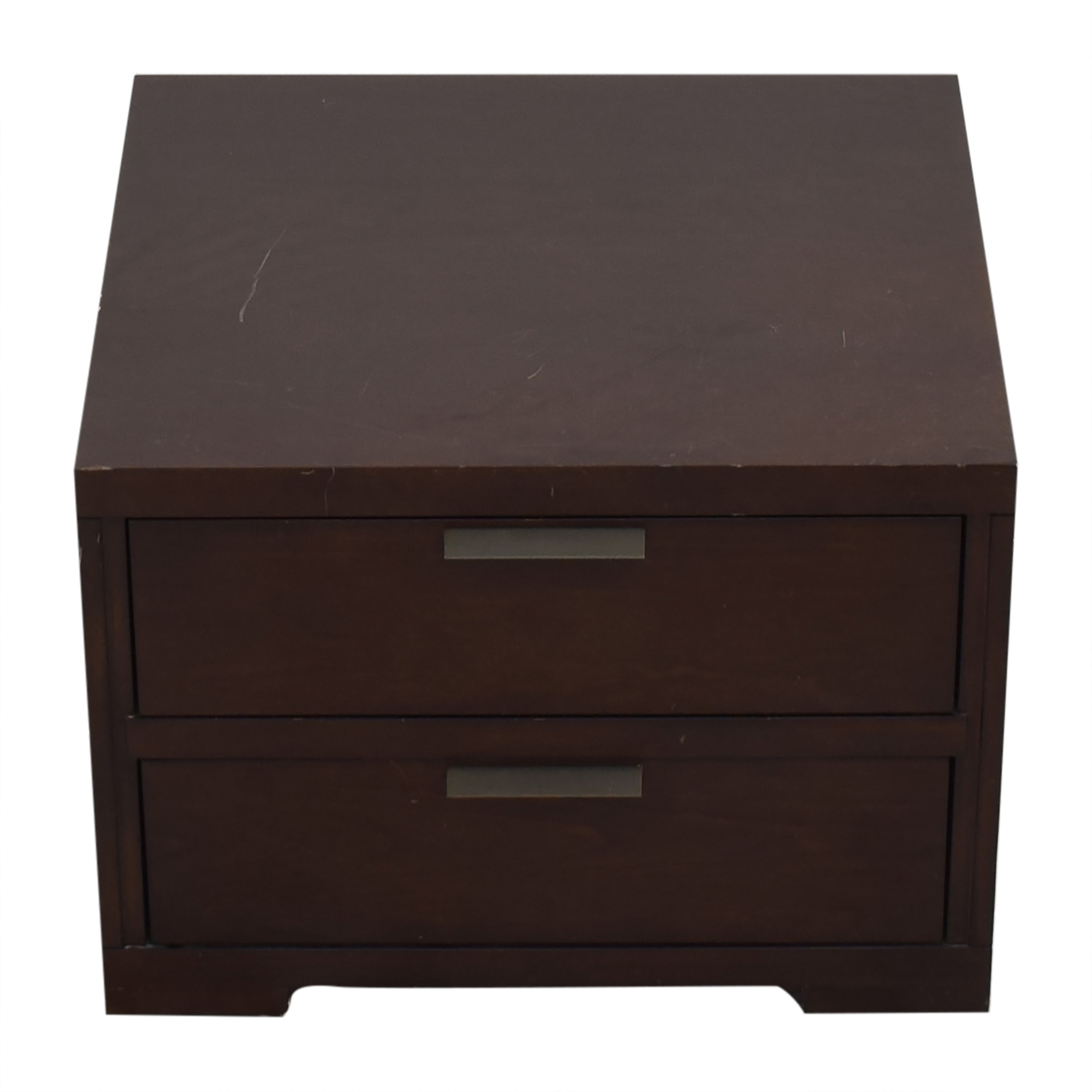 shop Crate & Barrel Asher 2-Drawer Nightstand Crate & Barrel Tables
