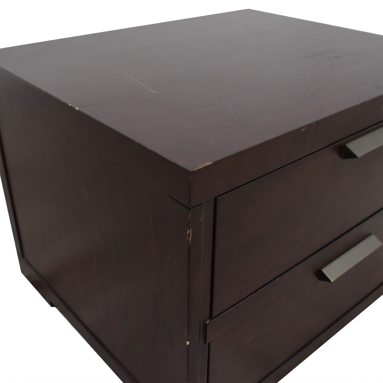 buy Crate & Barrel Asher 2-Drawer Nightstand Crate & Barrel