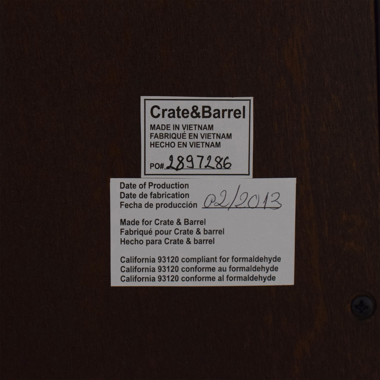 buy Crate & Barrel Crate & Barrel Asher 2-Drawer Nightstand online
