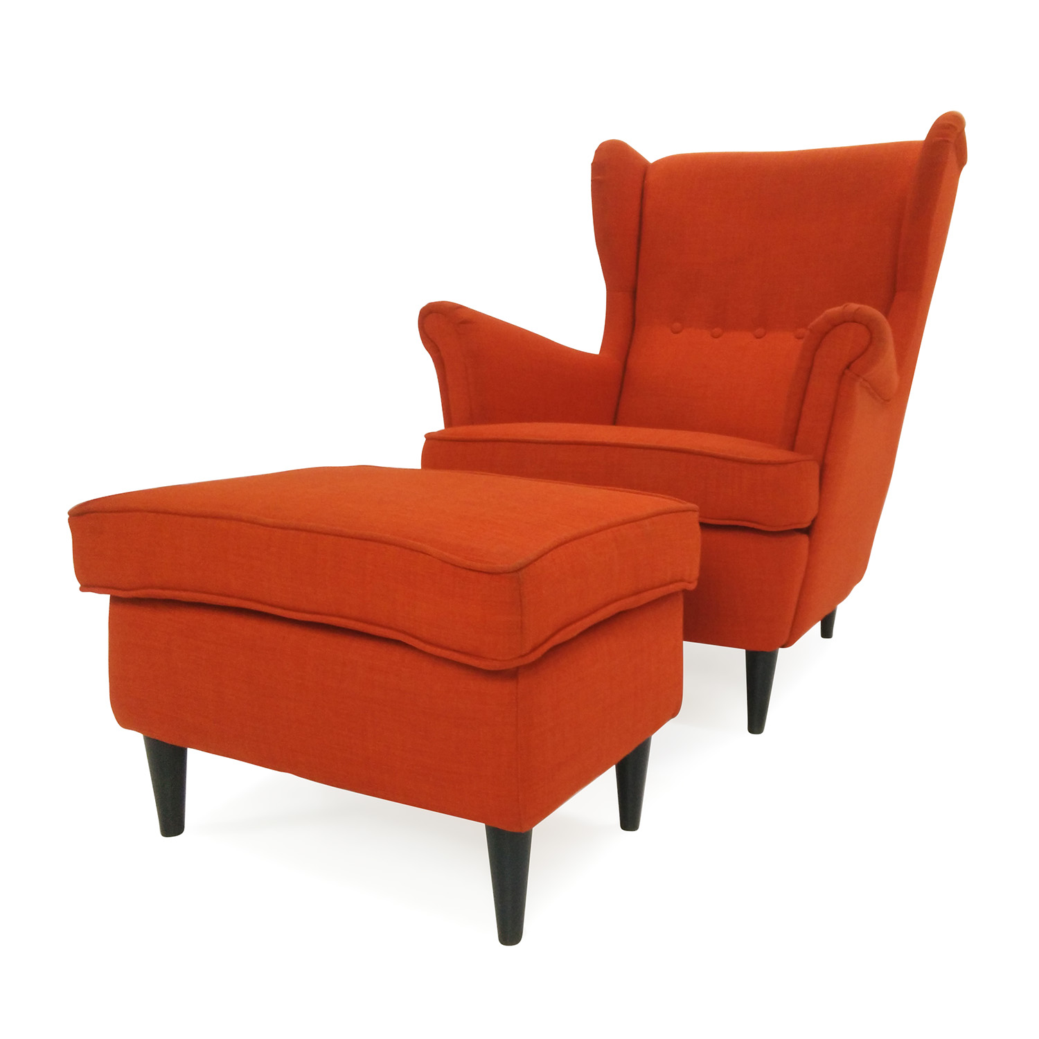 shop IKEA Wing Chair and Footstool IKEA Accent Chairs
