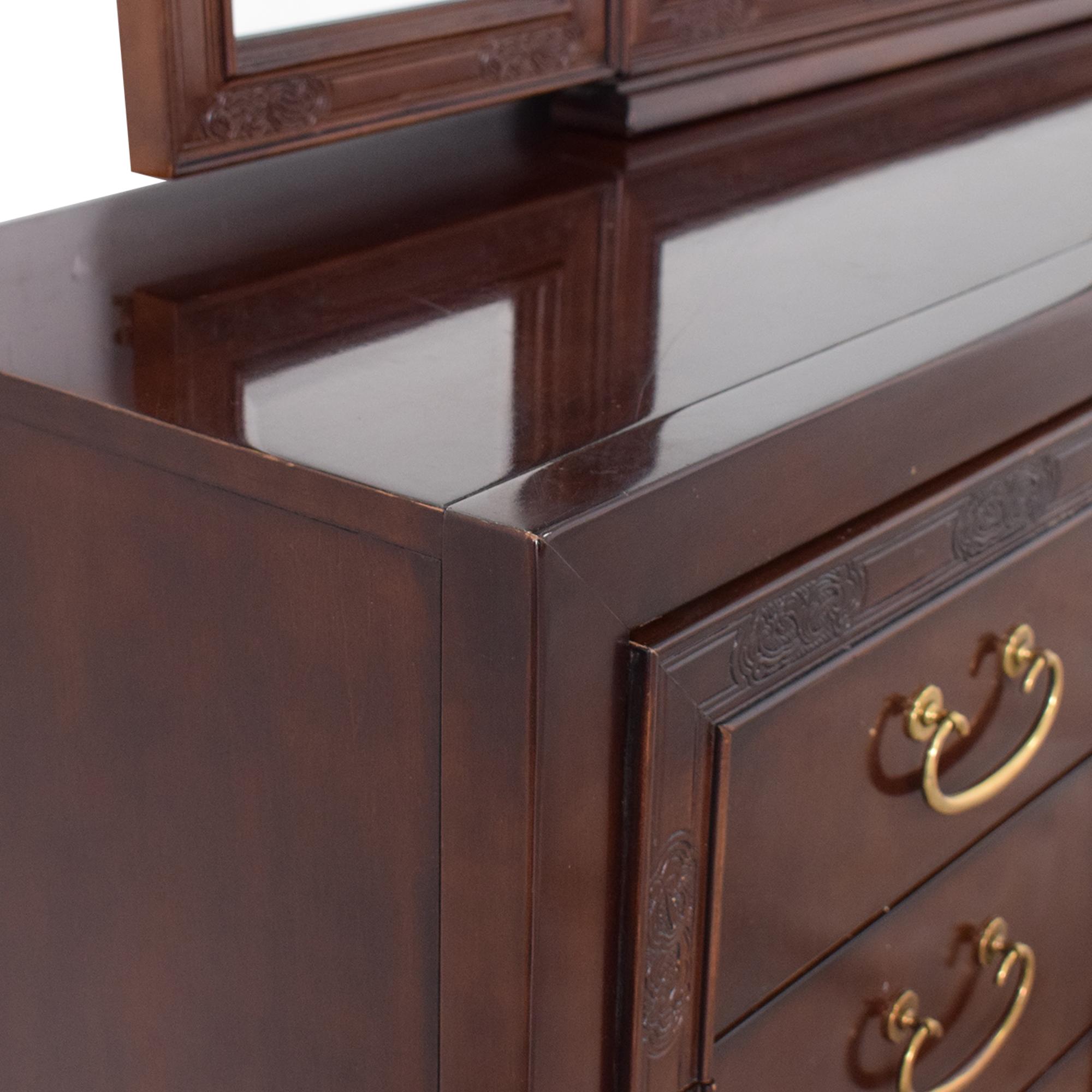 shop Bernhardt Dresser with Mirror Bernhardt Dressers