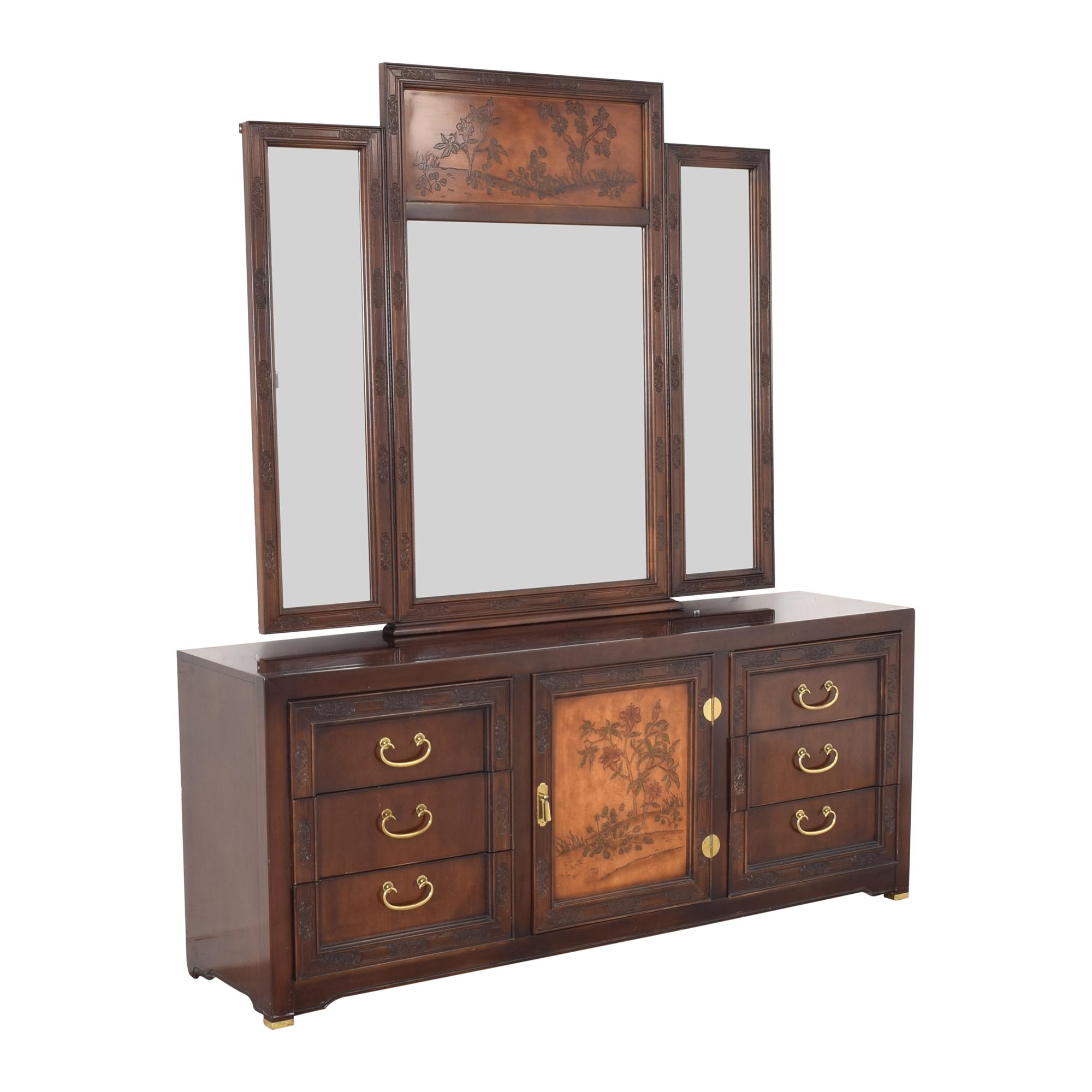 shop Bernhardt Dresser with Mirror Bernhardt Storage