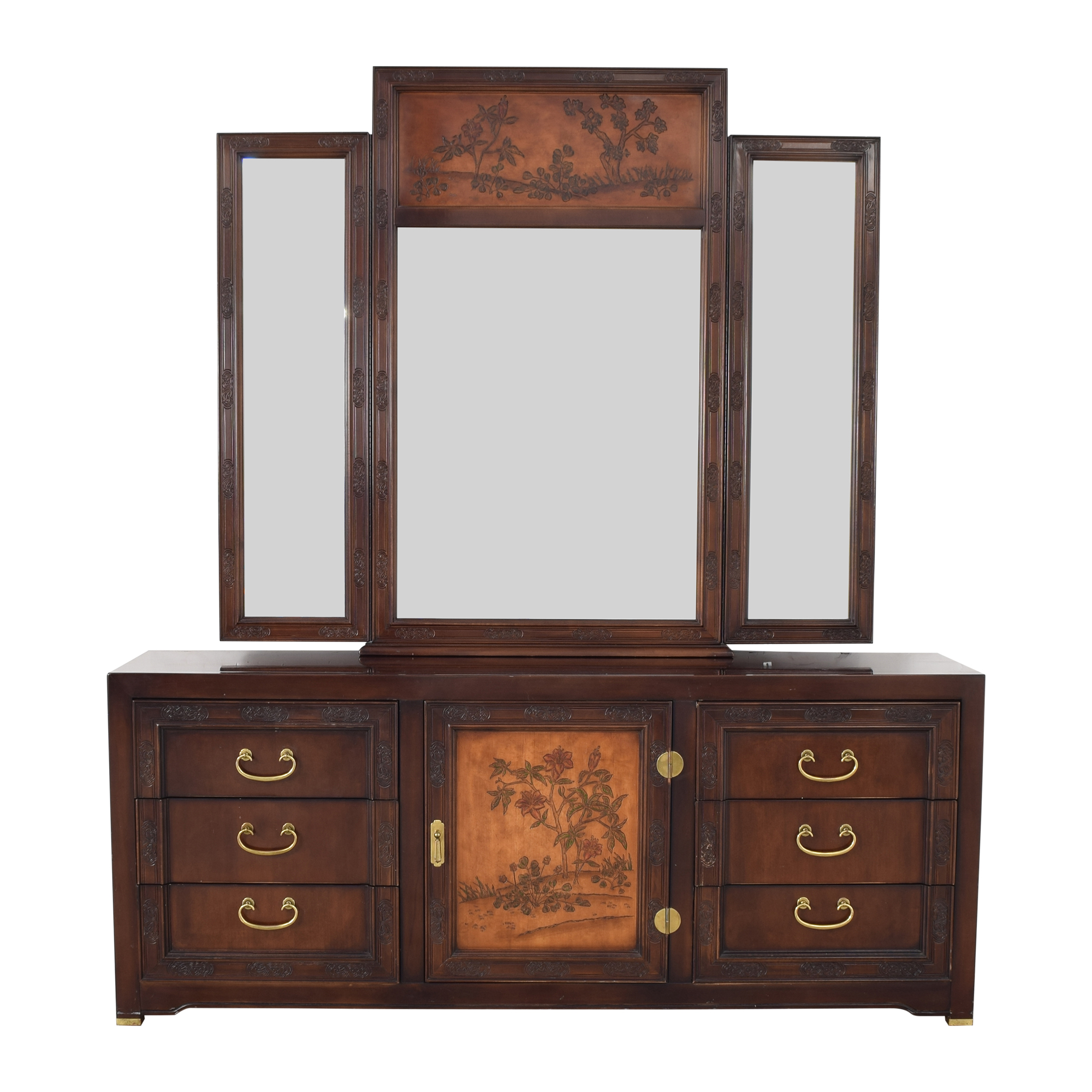 buy Bernhardt Dresser with Mirror Bernhardt
