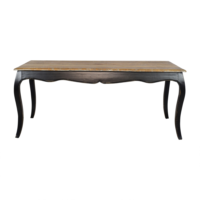 ABC Carpet & Home ABC Carpet & Home Rustic Dining Table brown & black