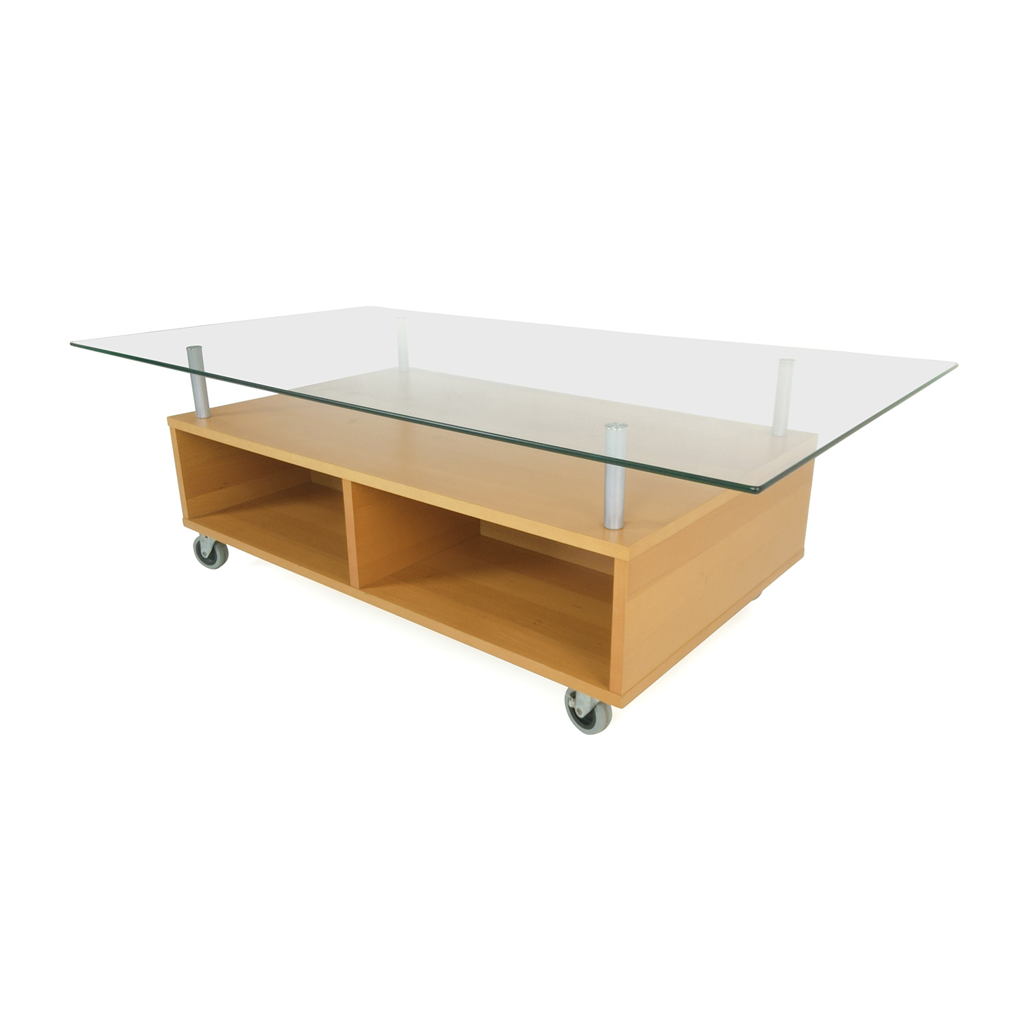 IKEA Glass Coffee Table With Storage / Tables