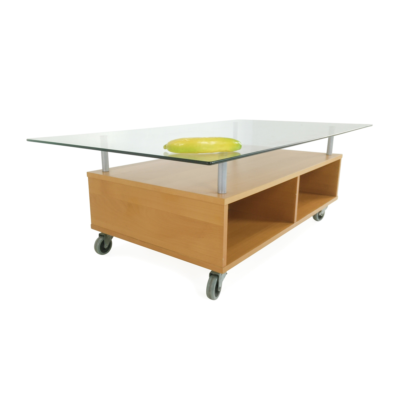 Coffee Table With Storage Glass: IKEA Glass Coffee Table With Storage / Tables