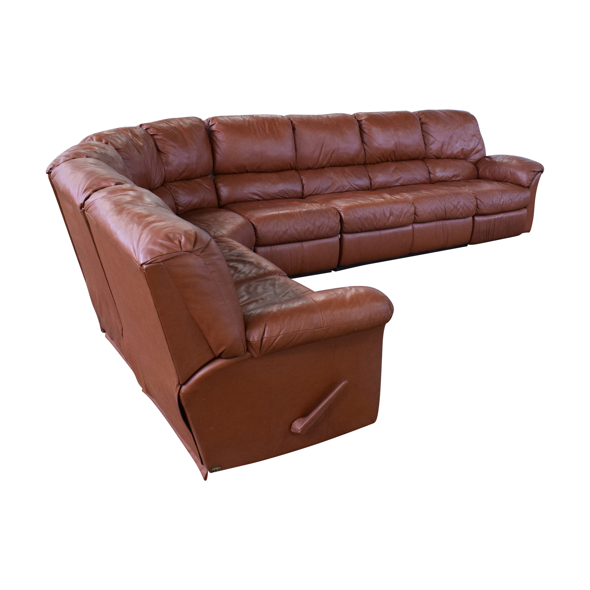 Elran Elran Reclining Curved Sectional Sofa Sectionals