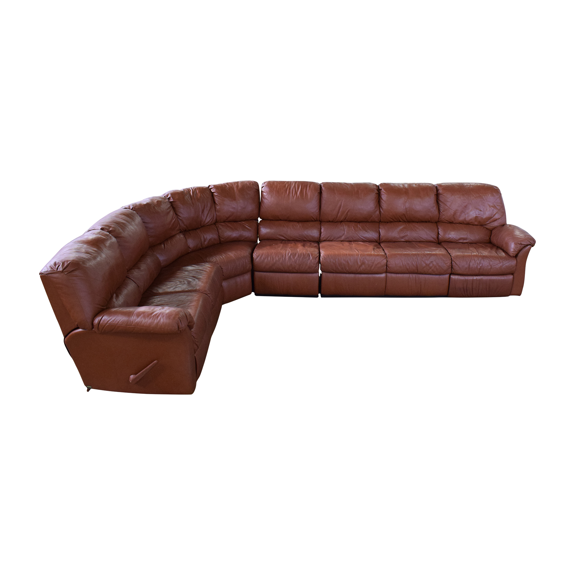 Elran Elran Reclining Curved Sectional Sofa dimensions