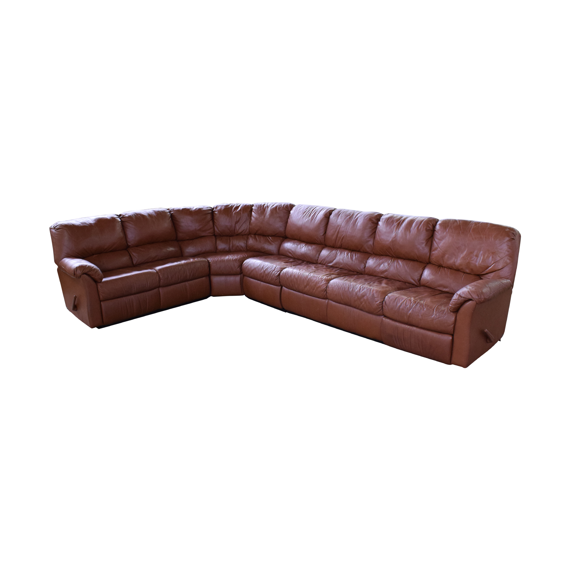 Elran Elran Reclining Curved Sectional Sofa pa