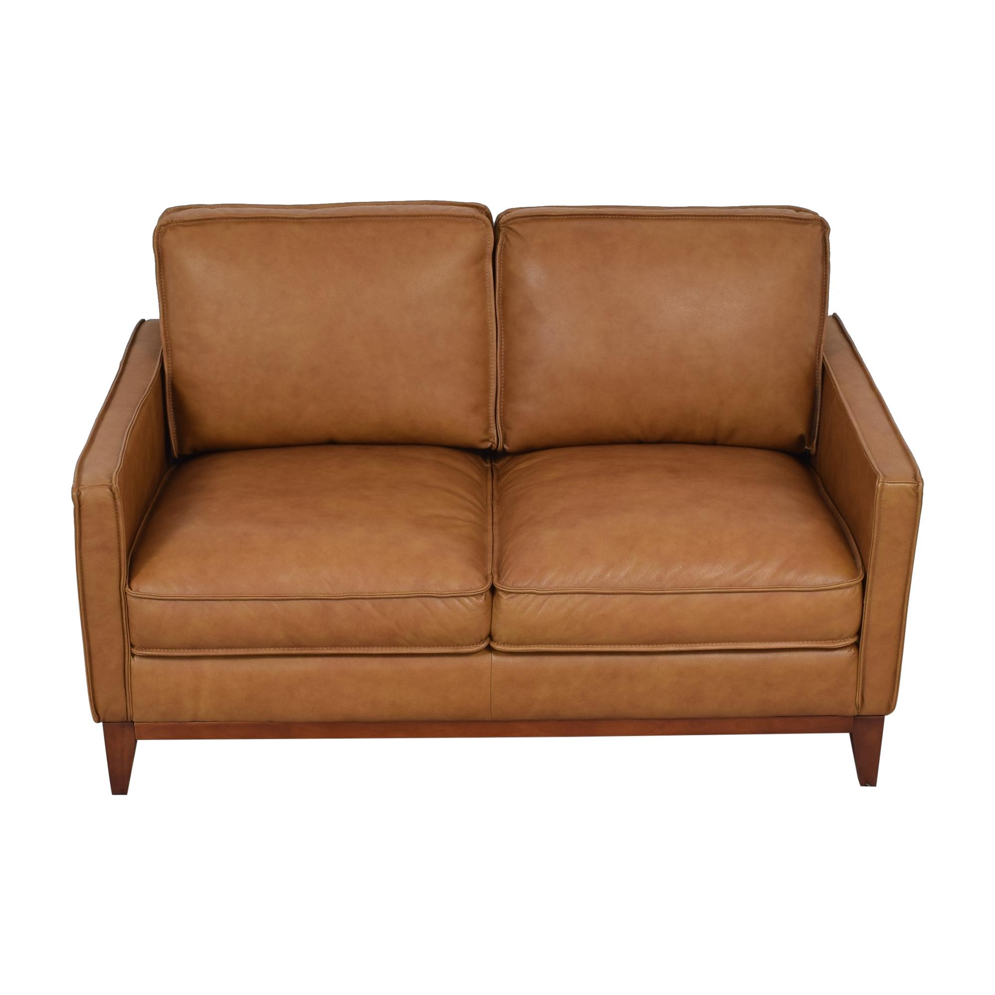 Leather Italia Newport Loveseat sale
