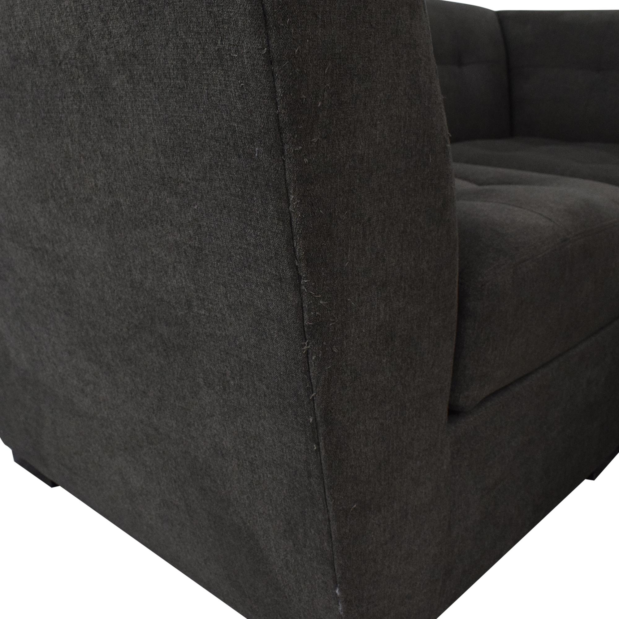 Macy's Macy's Roxanne II Modular Sofa with Bumper Chaise dark grey