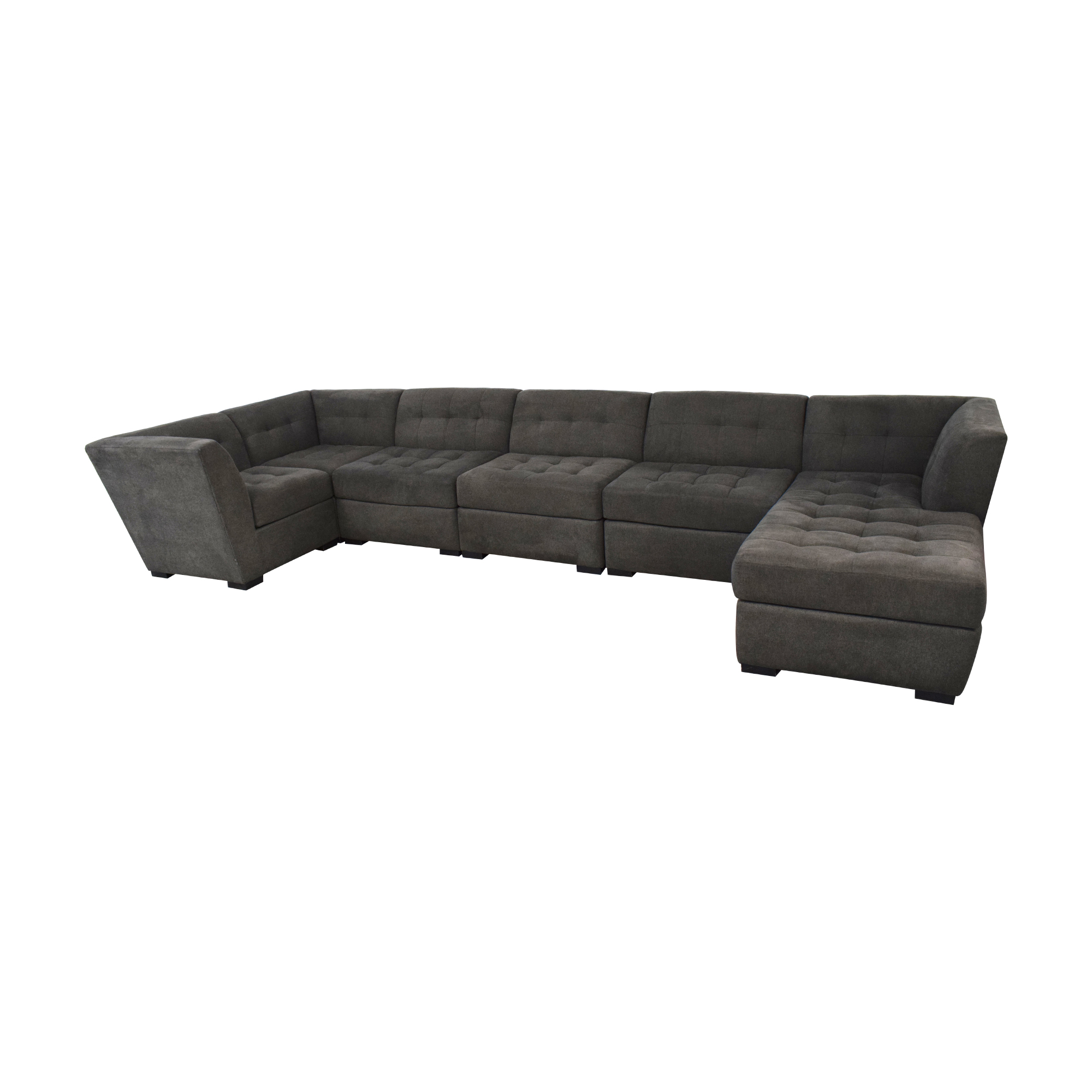 Macy's Roxanne II Modular Sofa with Bumper Chaise / Sofas