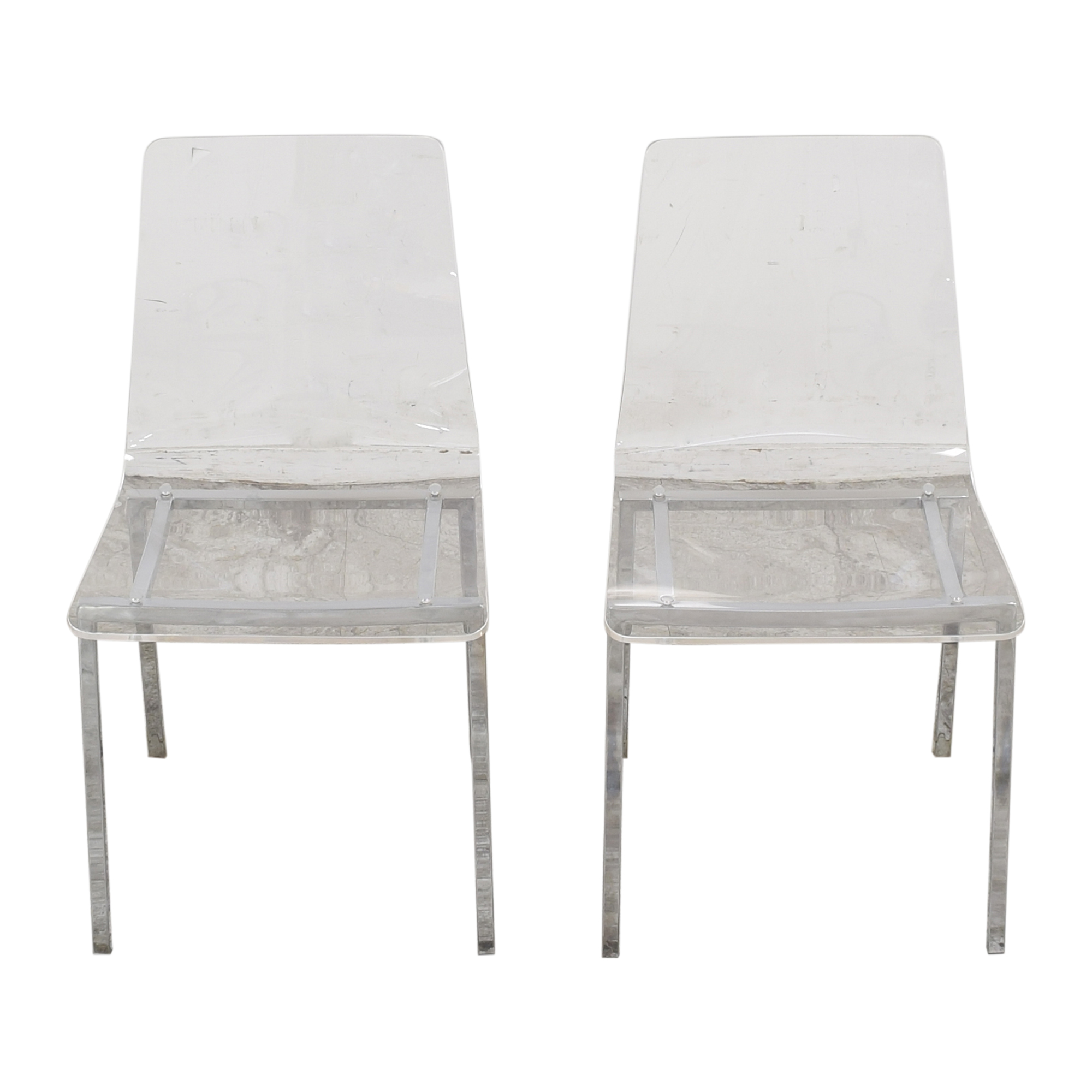 CB2 CB2 Vapor Acrylic Clear Dining Room Chairs Chairs