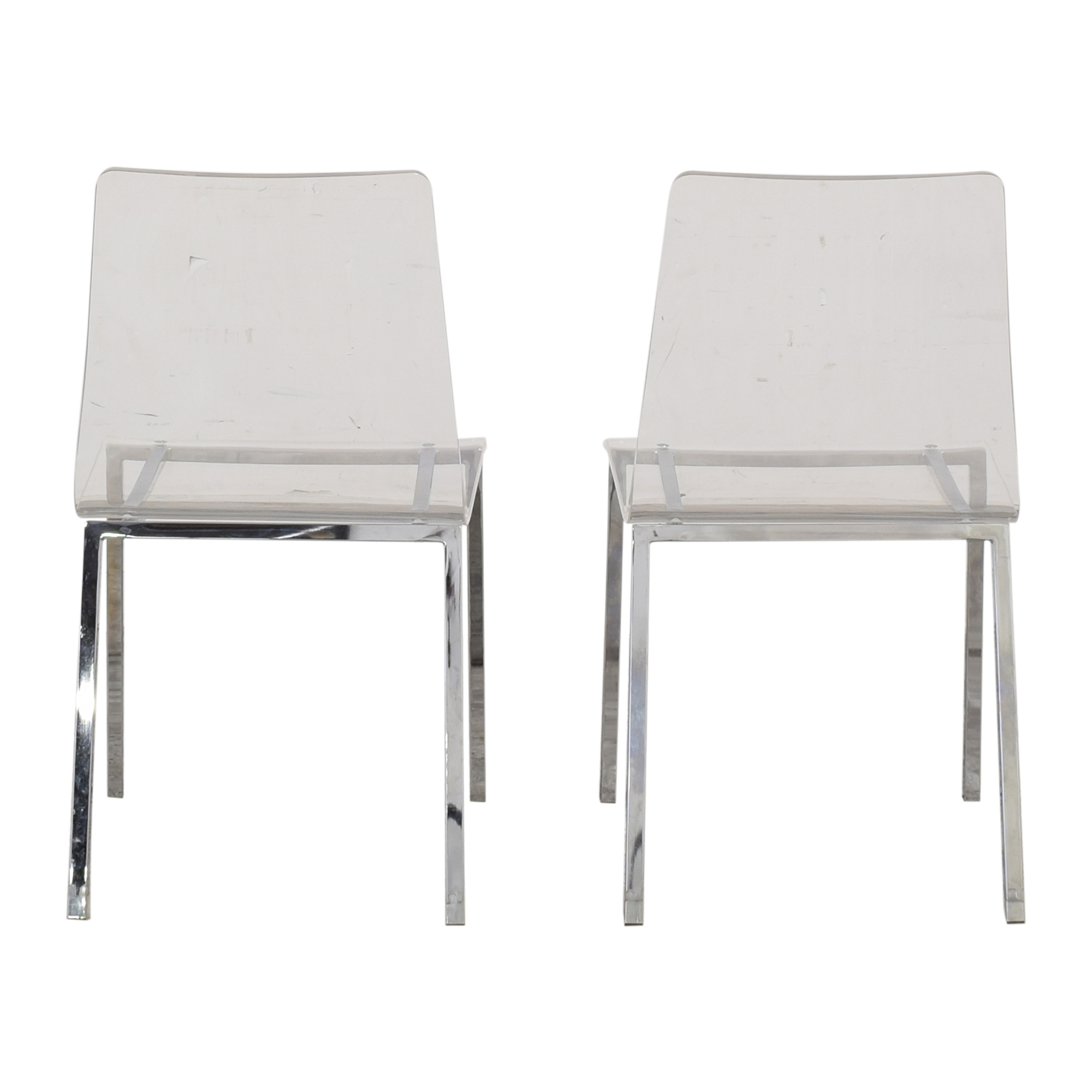shop CB2 Vapor Acrylic Clear Dining Room Chairs CB2 Chairs