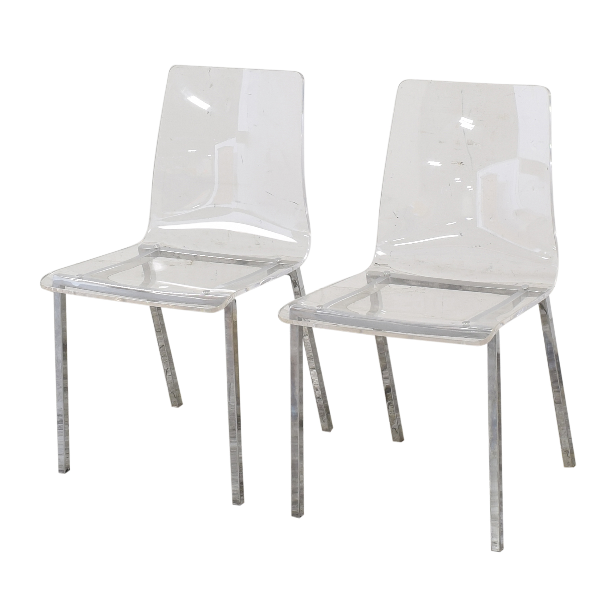 shop CB2 Vapor Acrylic Clear Dining Room Chairs CB2 Dining Chairs