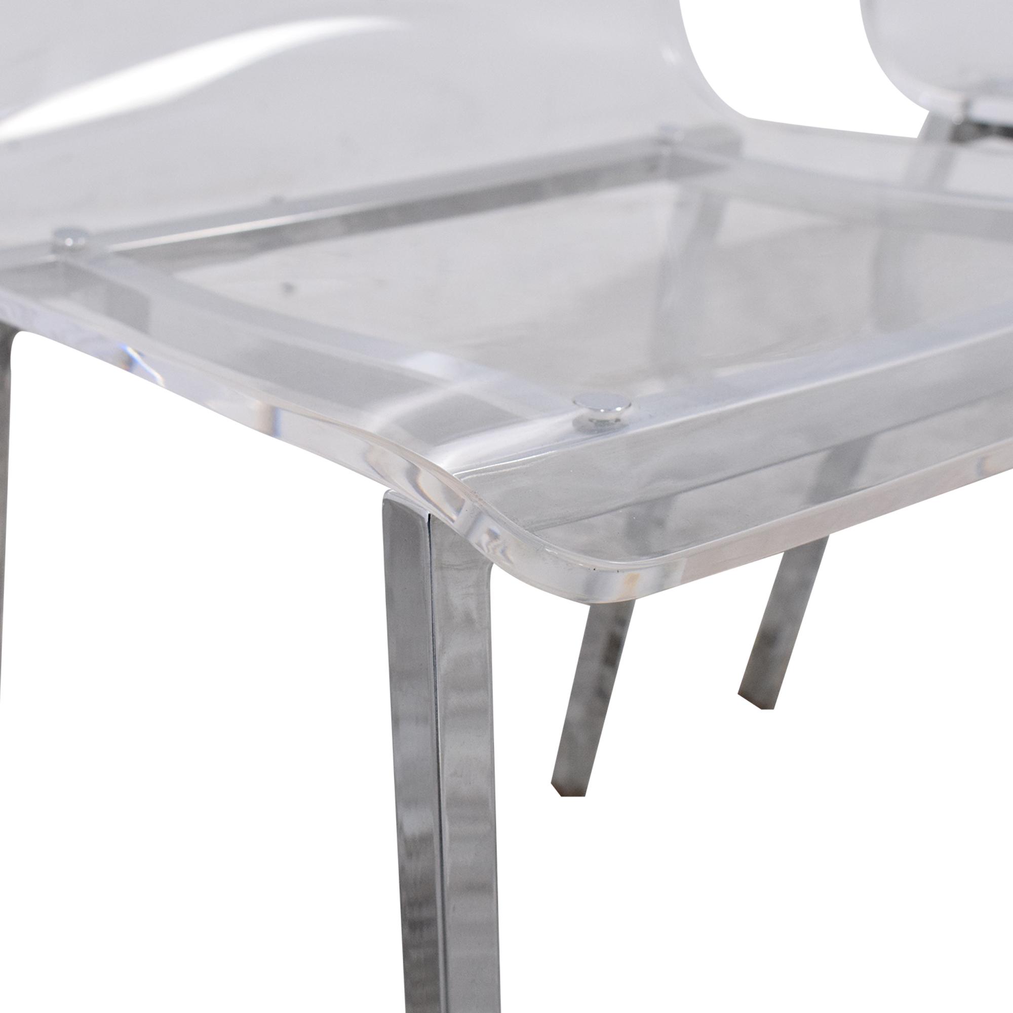 CB2 CB2 Vapor Acrylic Clear Dining Room Chairs ma