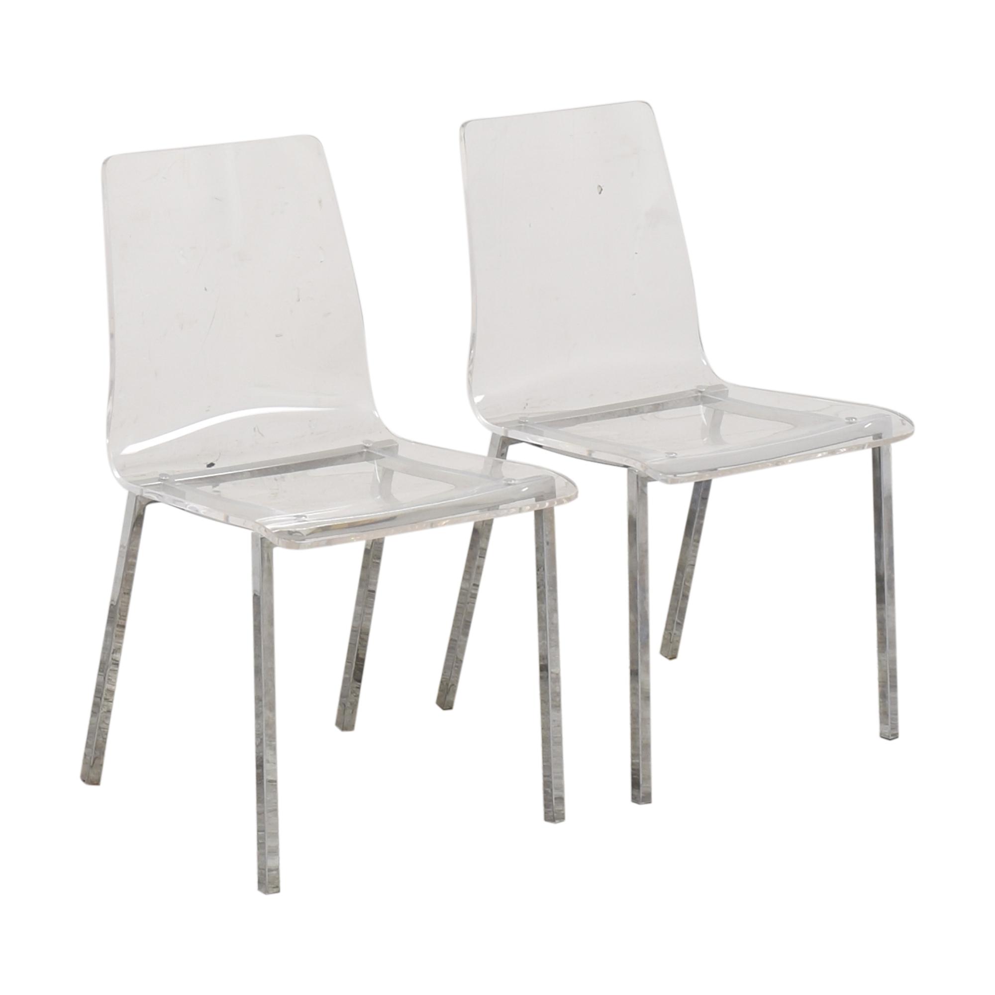 CB2 CB2 Vapor Acrylic Clear Dining Room Chairs price