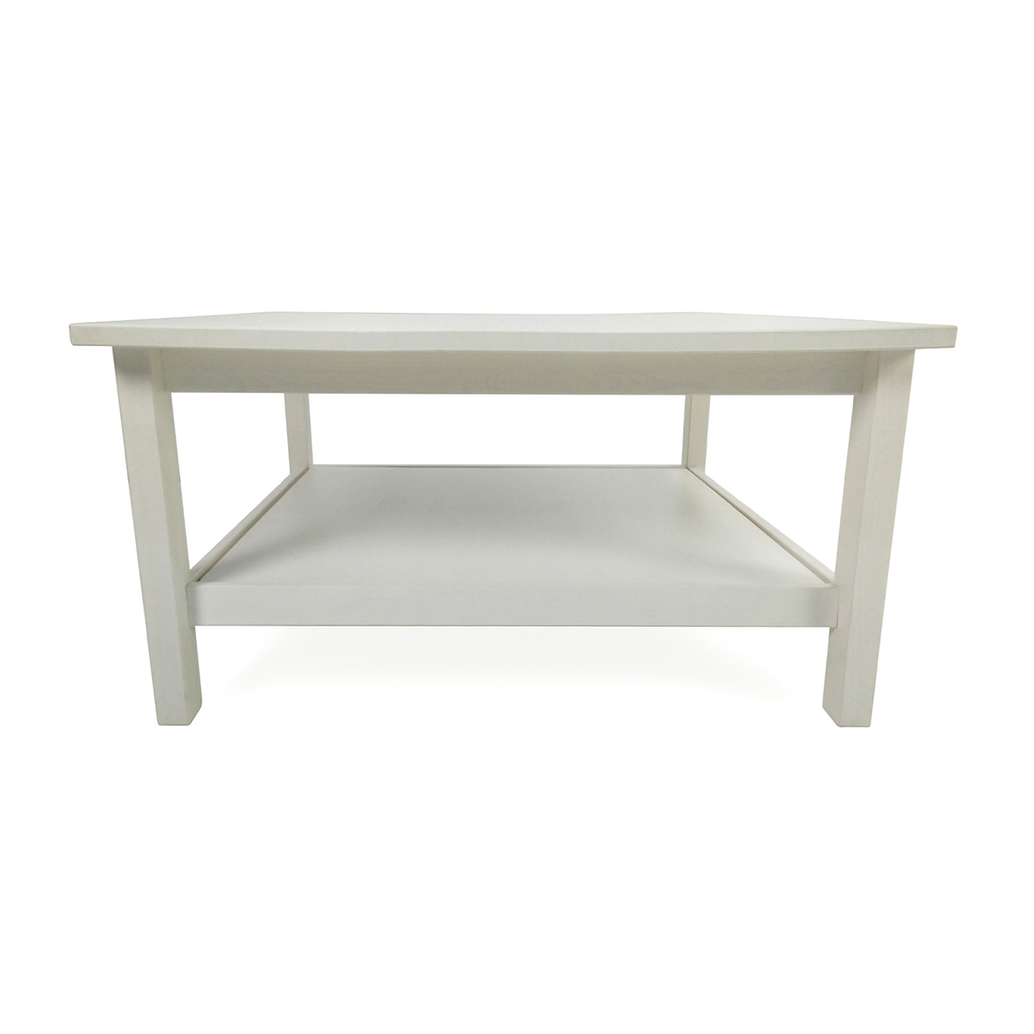 79% OFF Macy s Macy s White Two Drawer Coffee Table Tables