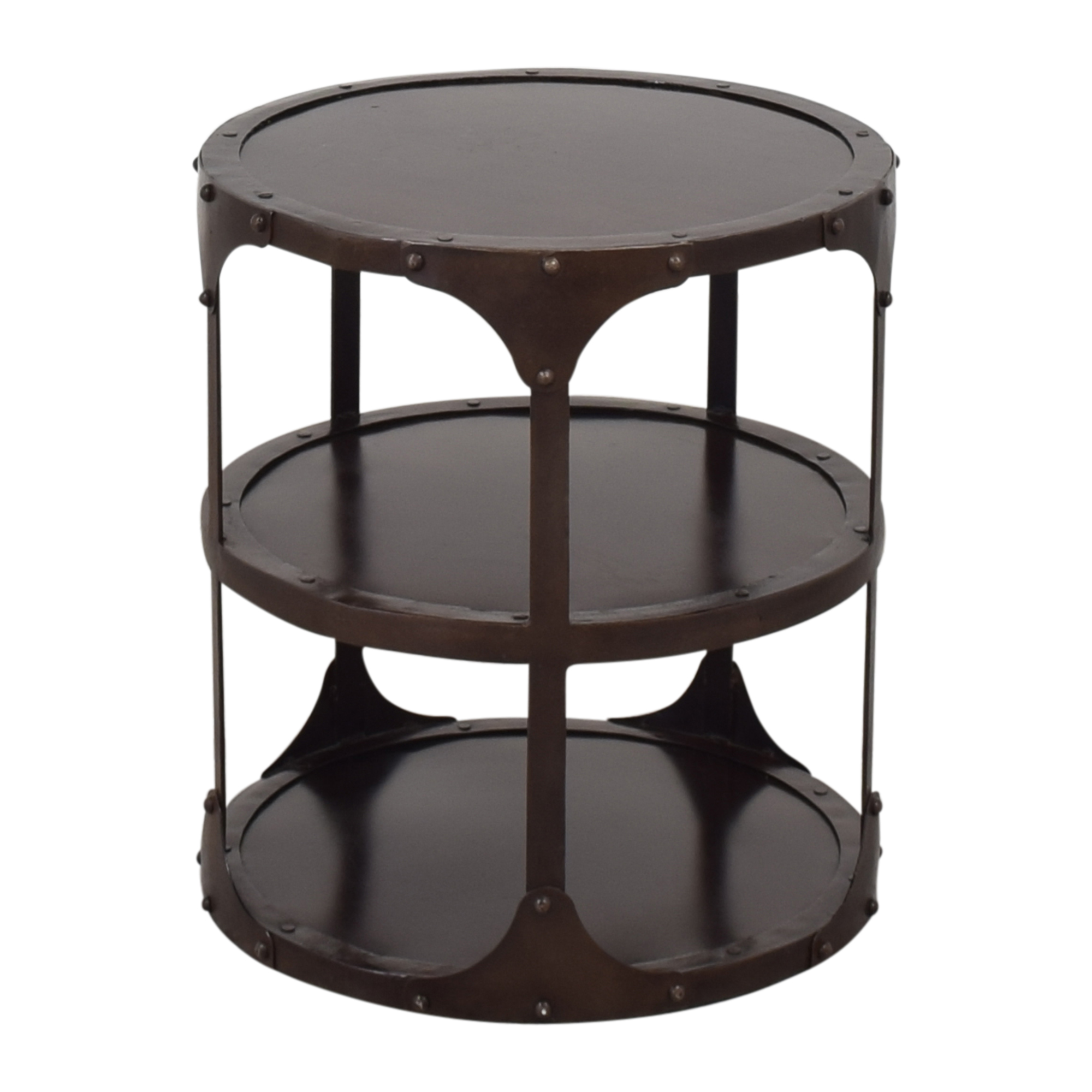 Restoration Hardware Restoration Hardware Metal Bombay Side Table dimensions