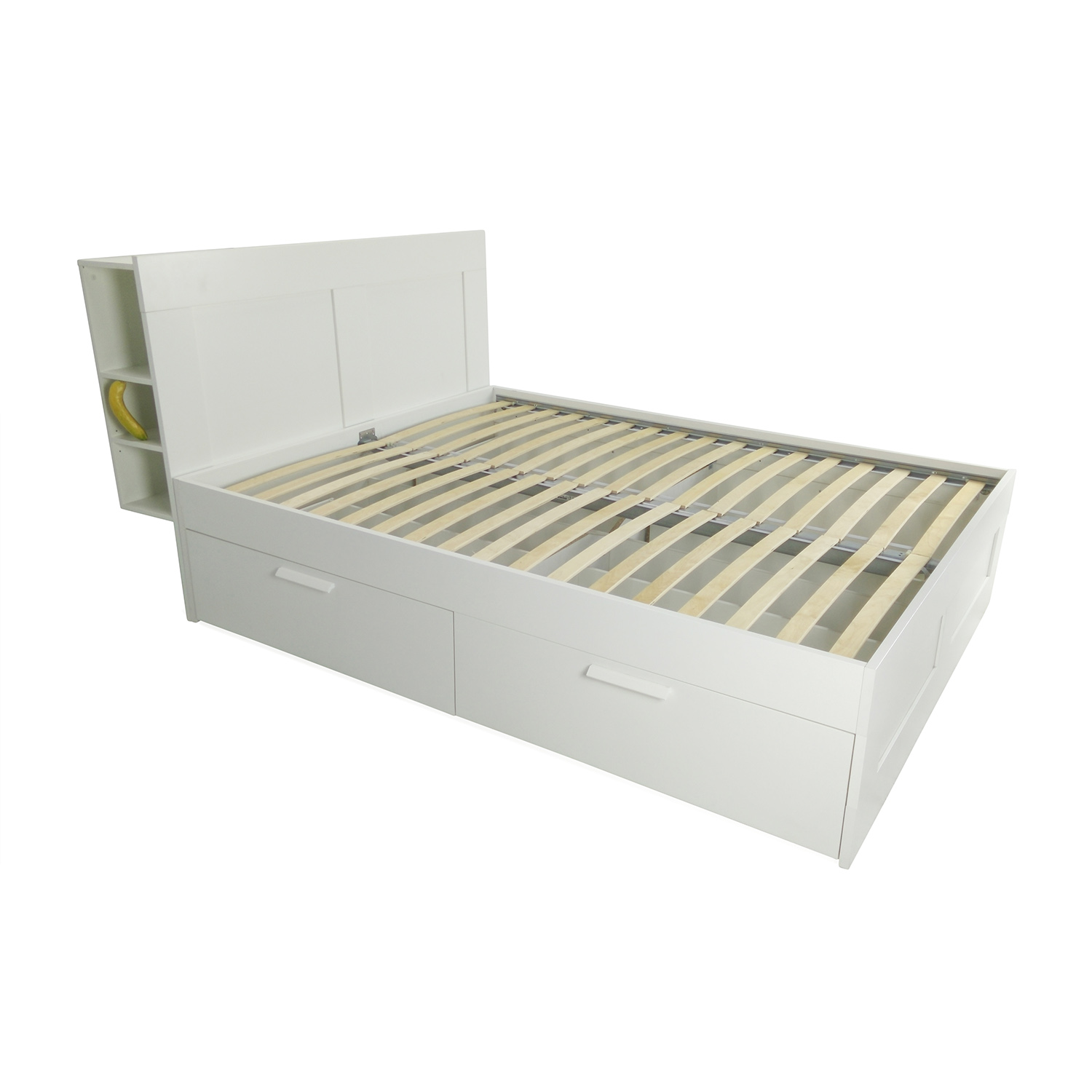 57 off ikea ikea queen size bed frame beds for Ikea mattress frame