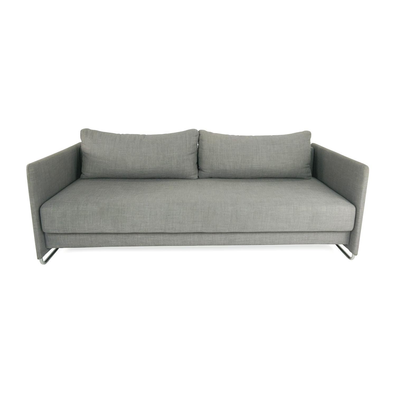 49% OFF CB2 CB2 Tandom Grey Futon Sofas
