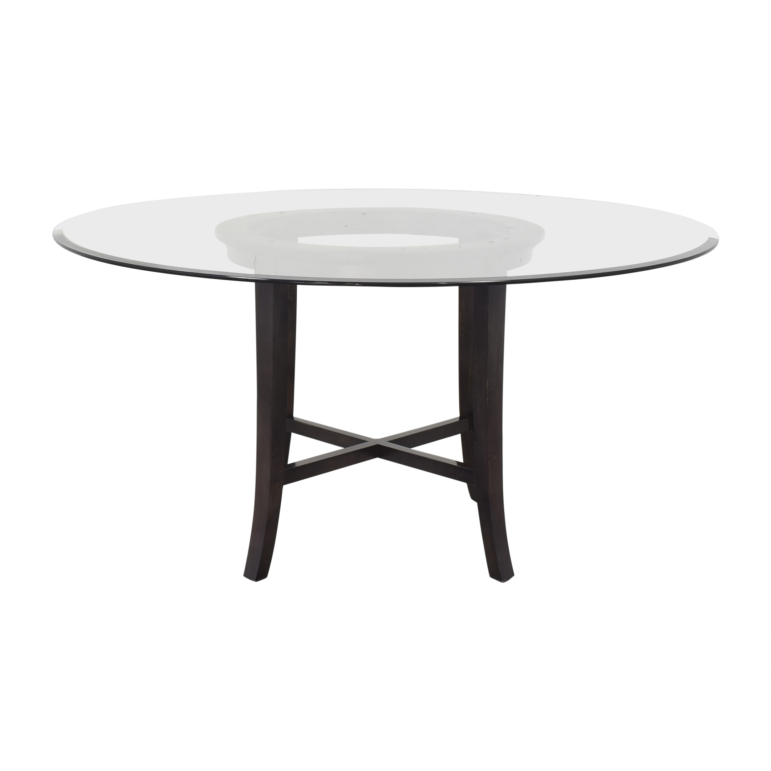 Crate & Barrel Crate & Barrel Halo Round Dining Table with Glass Top price