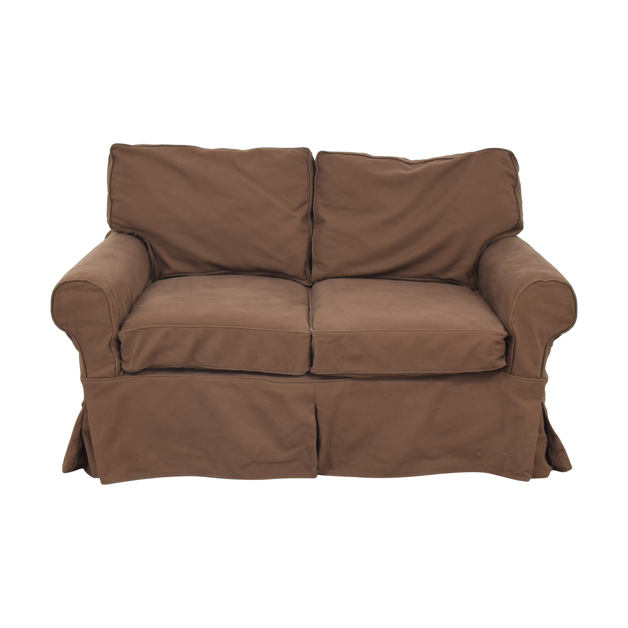 Pottery Barn Pottery Barn Basic Slipcover Loveseat brown