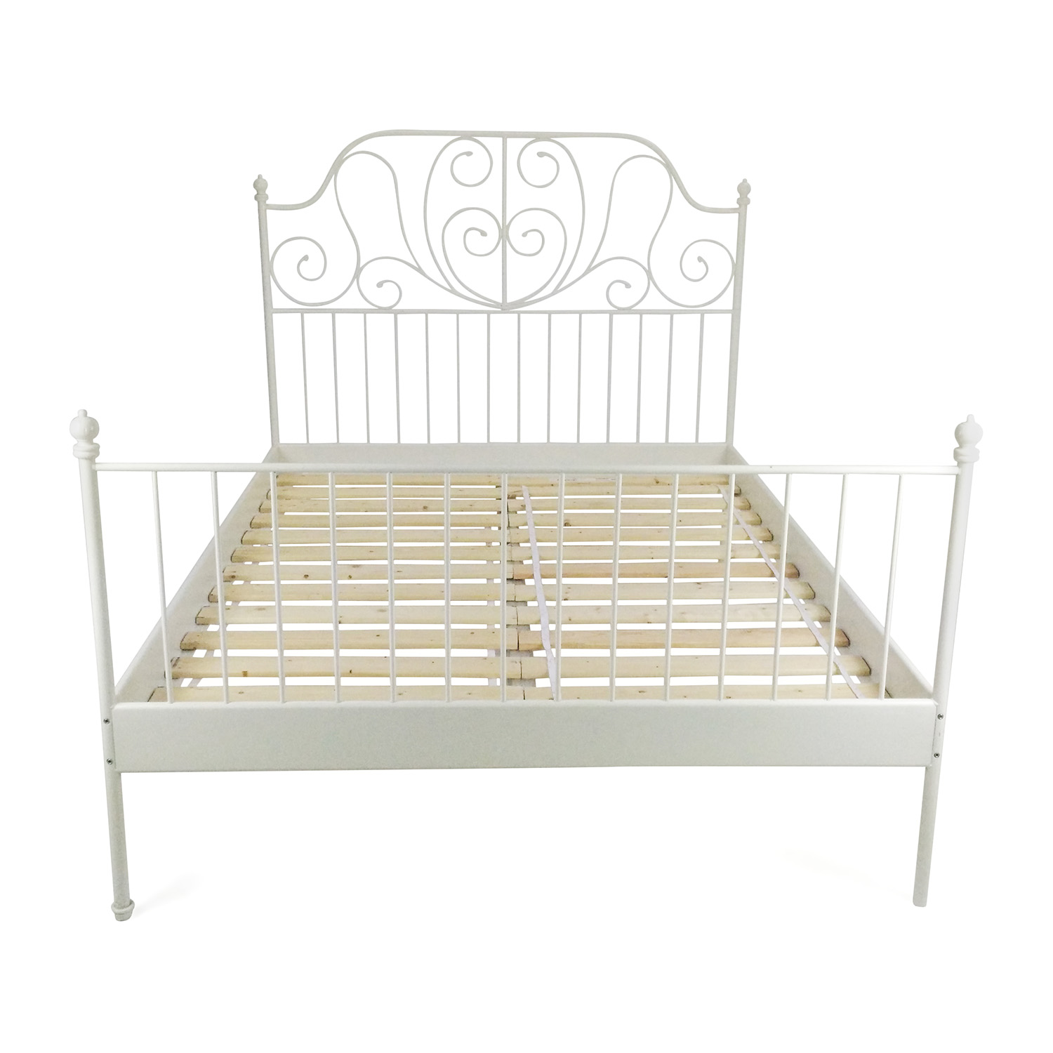 e89b1dffe0c 70% OFF - IKEA IKEA Queen Sized Iron Bed Frame   Beds