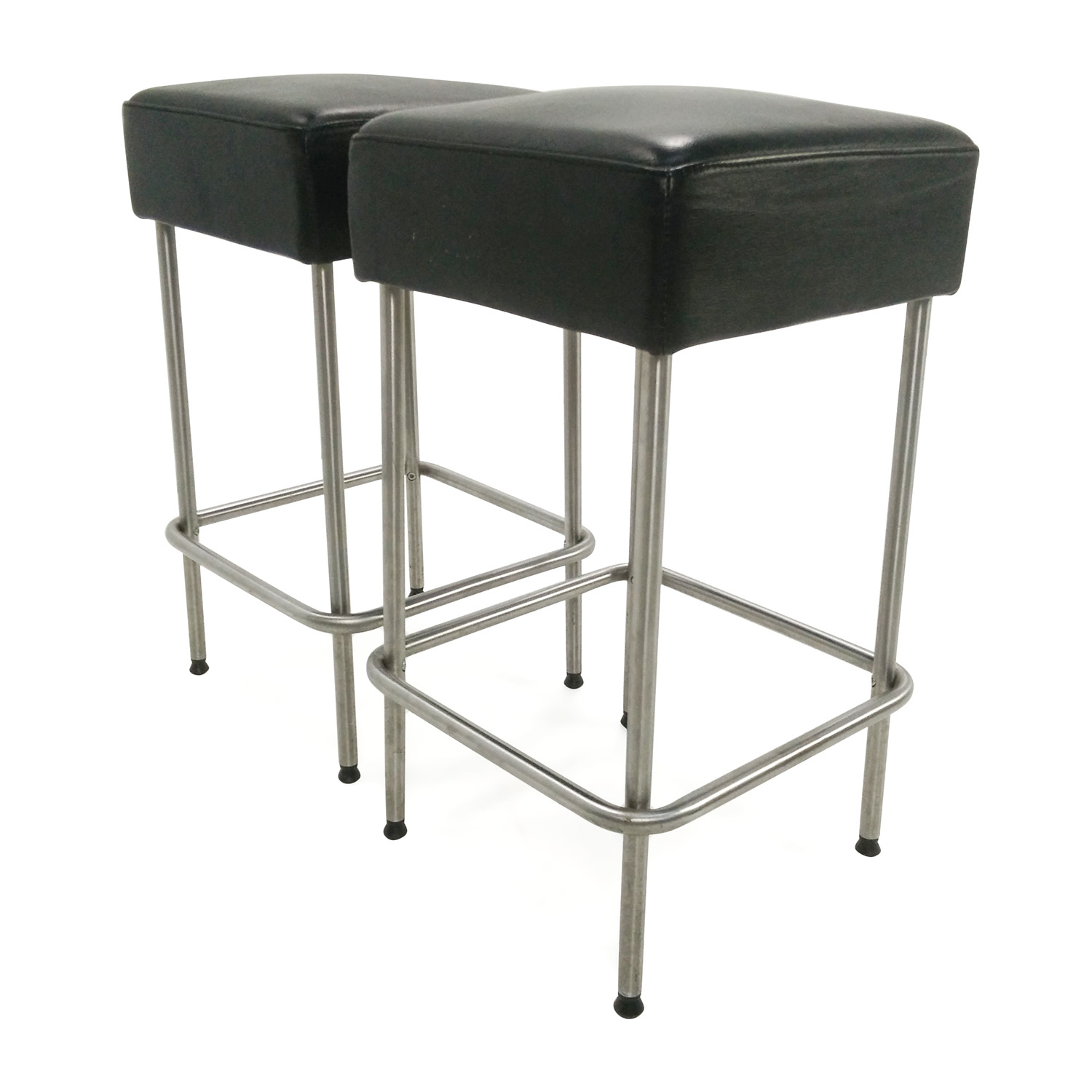 Off ikea black faux leather bar stools chairs