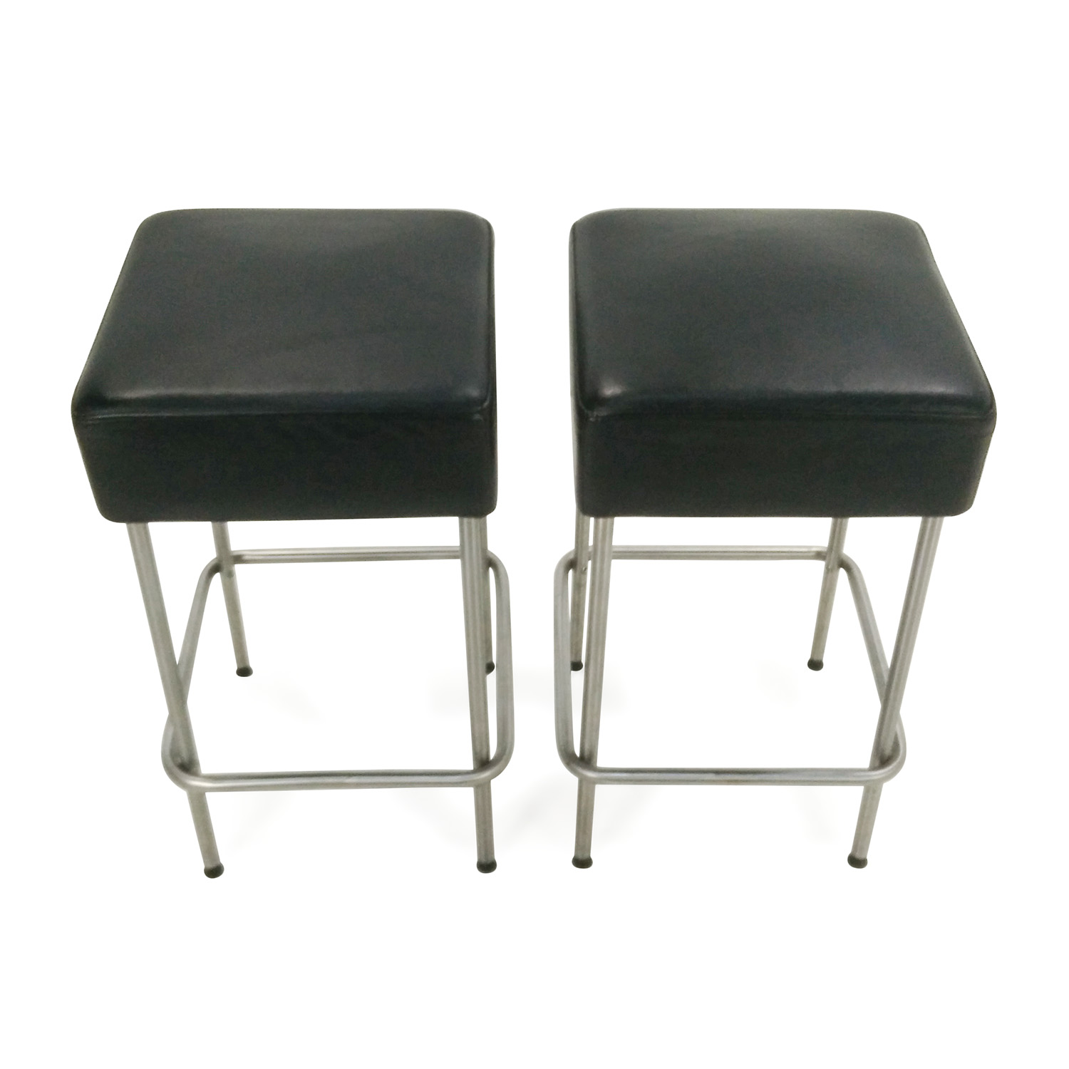 IKEA IKEA Black Faux Leather Bar Stools Black
