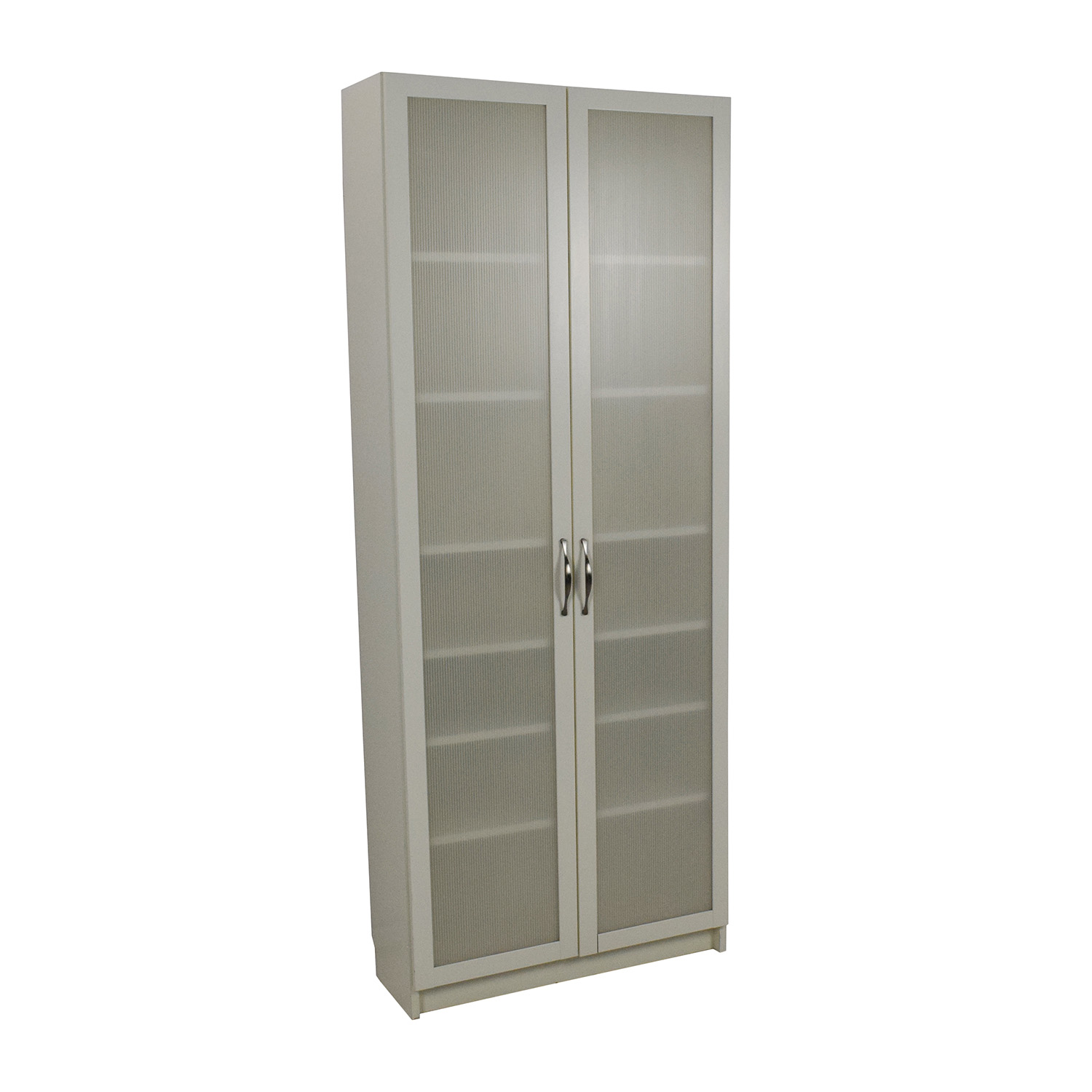 56 Off Ikea Ikea White Glass Door Cabinet Storage