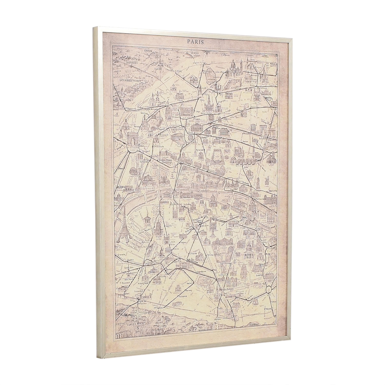 Ethan Allen Ethan Allen Framed Paris Map Wall Art price