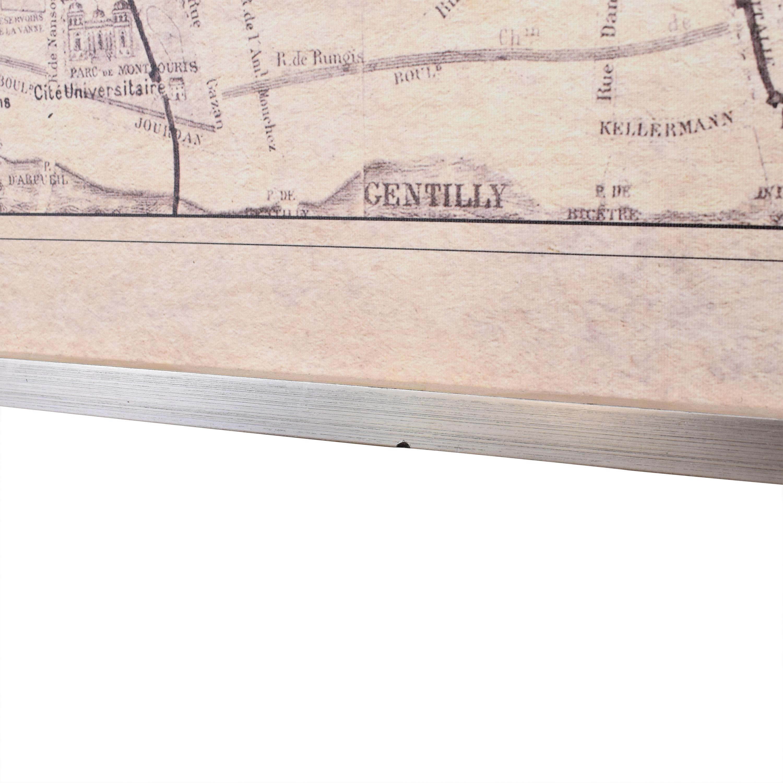 Ethan Allen Ethan Allen Framed Paris Map Wall Art ma