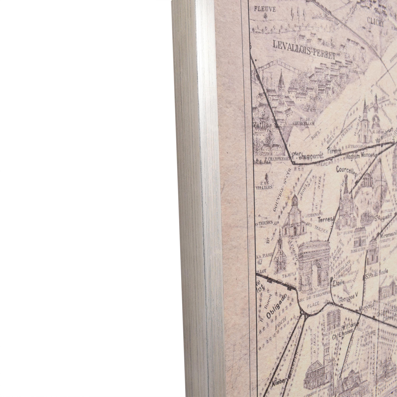 Ethan Allen Ethan Allen Framed Paris Map Wall Art nyc