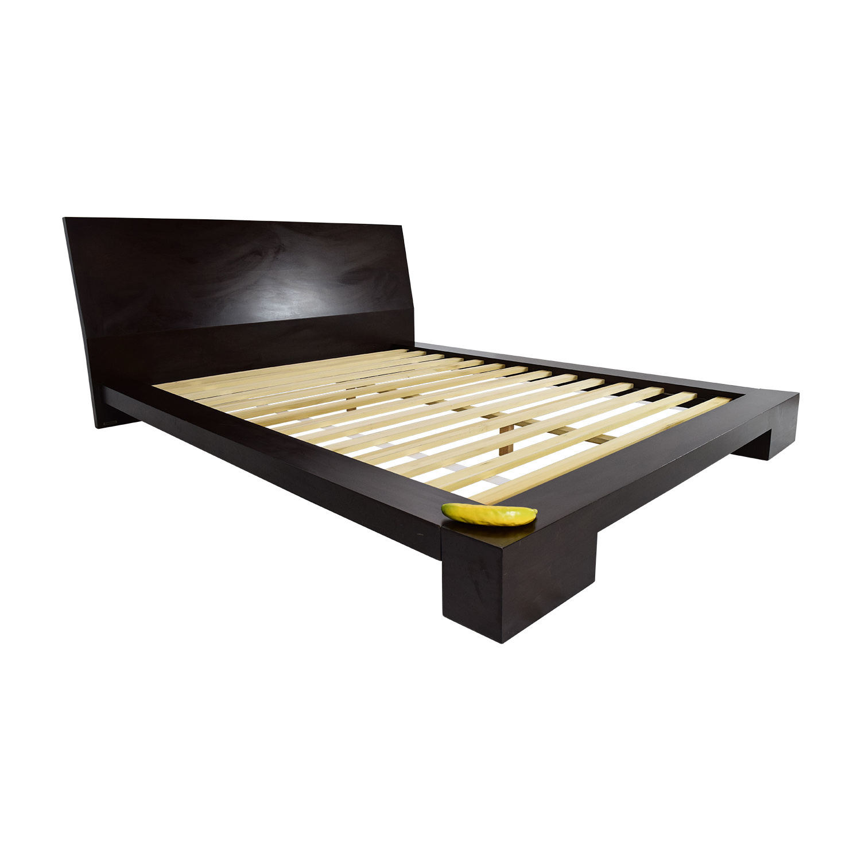 buy dark wood queen bed frame bed frames - Queen Bed Frame Wood