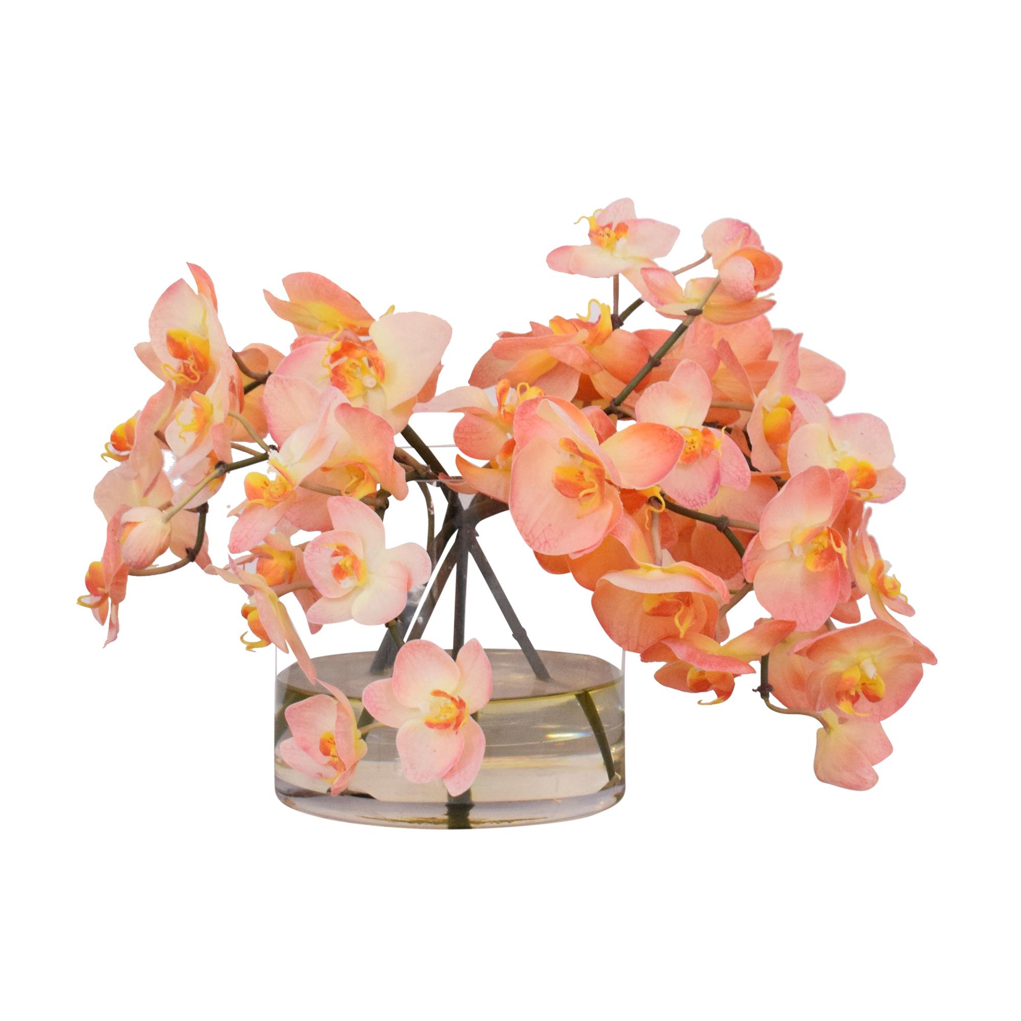 shop Ethan Allen Decorative Vase of Orchids Ethan Allen