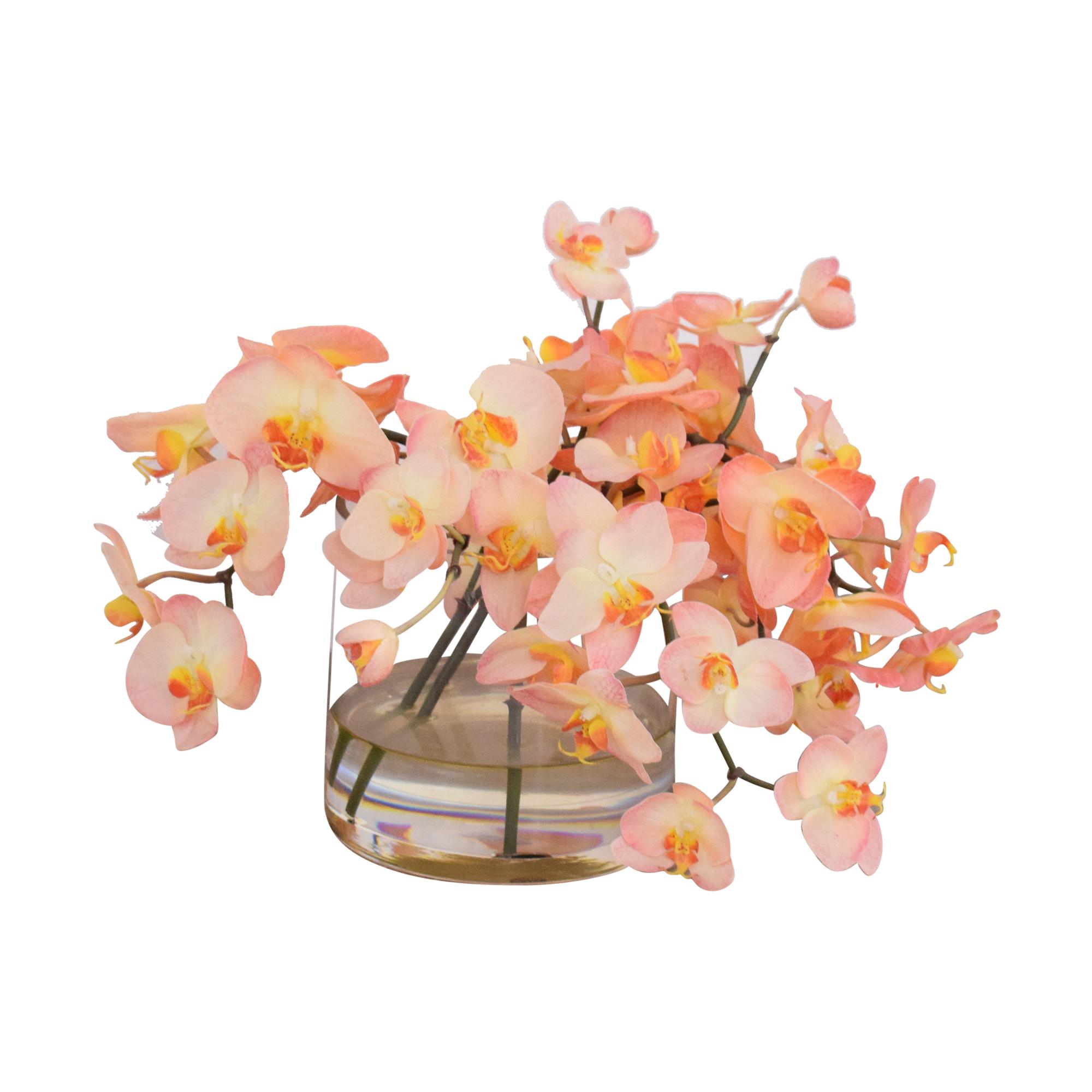 Ethan Allen Ethan Allen Decorative Vase of Orchids Decor