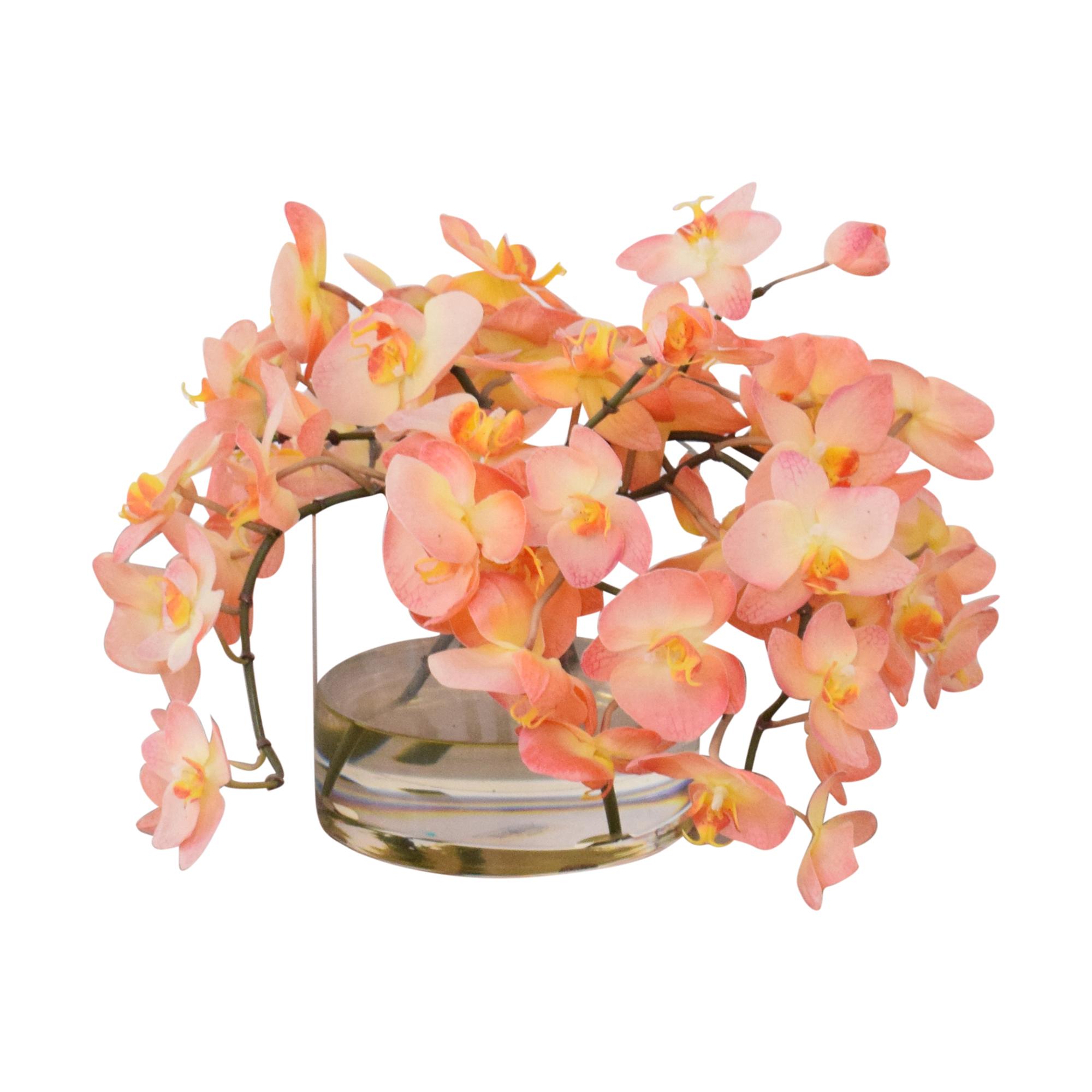 shop Ethan Allen Ethan Allen Decorative Vase of Orchids online