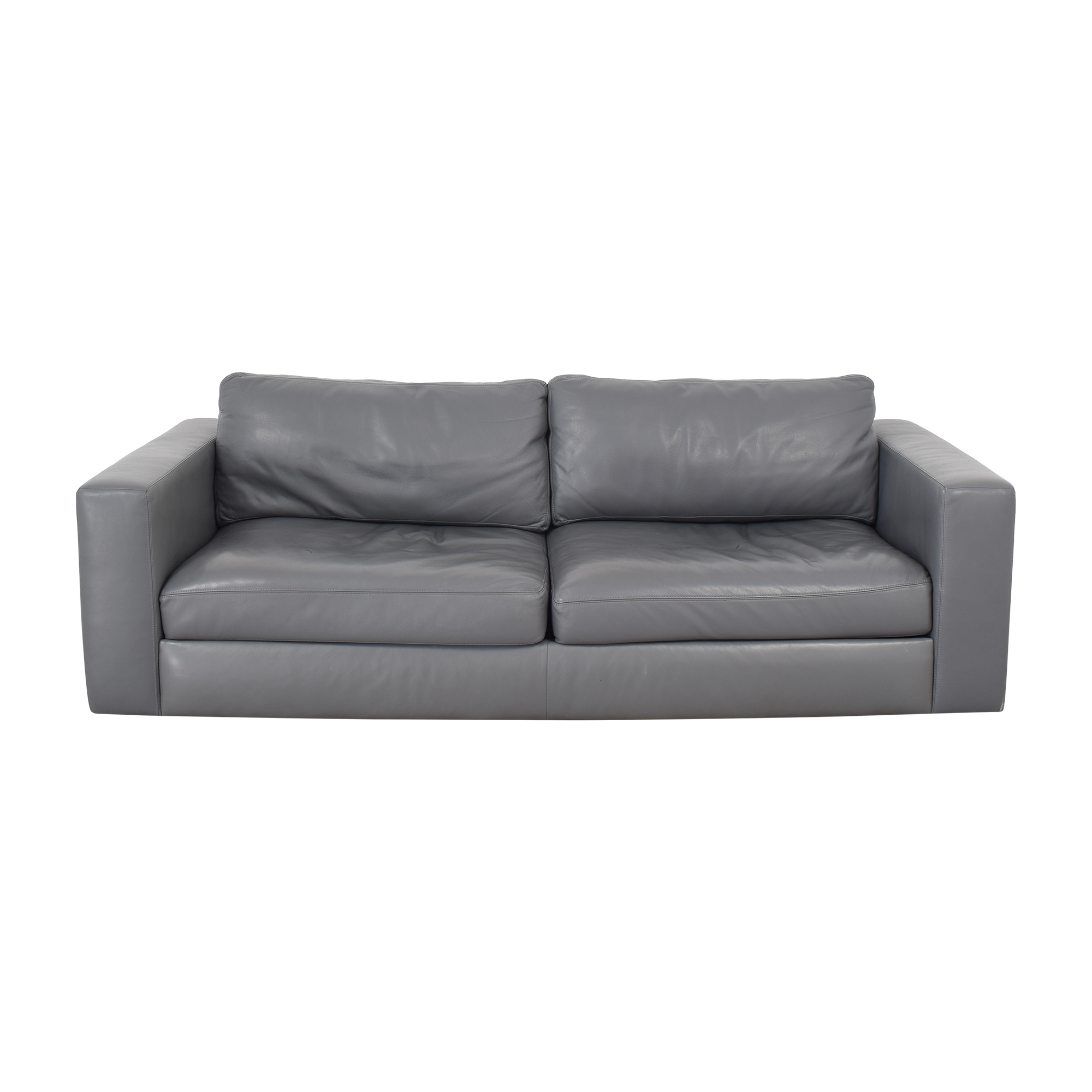 Design Within Reach Reid Leather Sofa sale