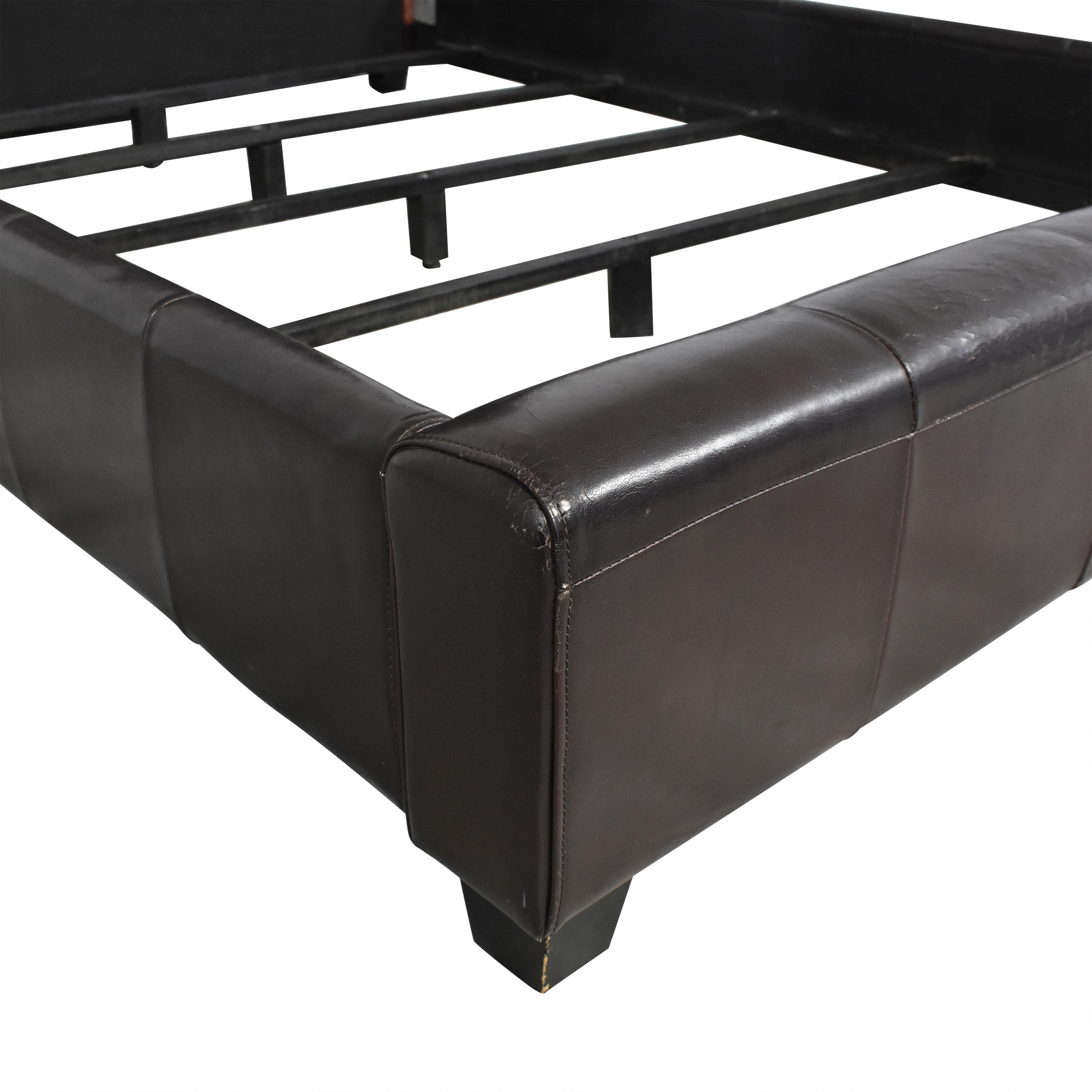Macy's Macy's Tufted Leather Queen Size Bed price