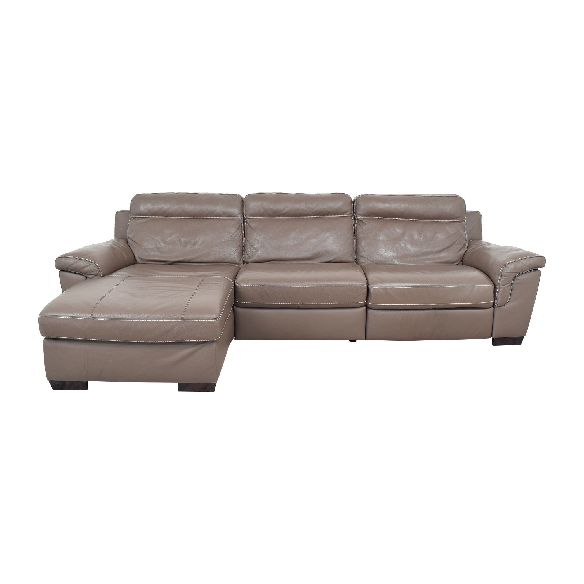 shop Natuzzi Natuzzi Reclining Sectional with Chaise online